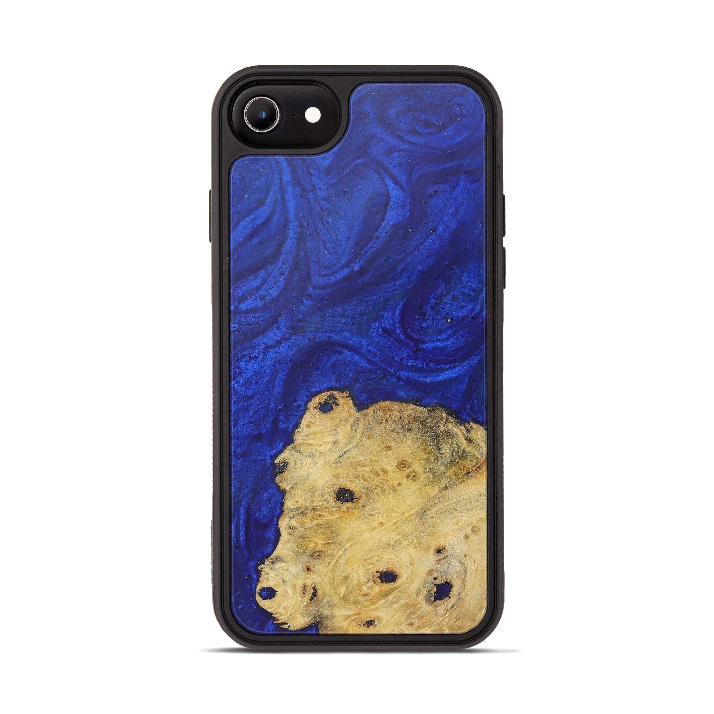 iPhone 6s Wood+Resin Phone Case - Dung (Dark Blue, 365971)