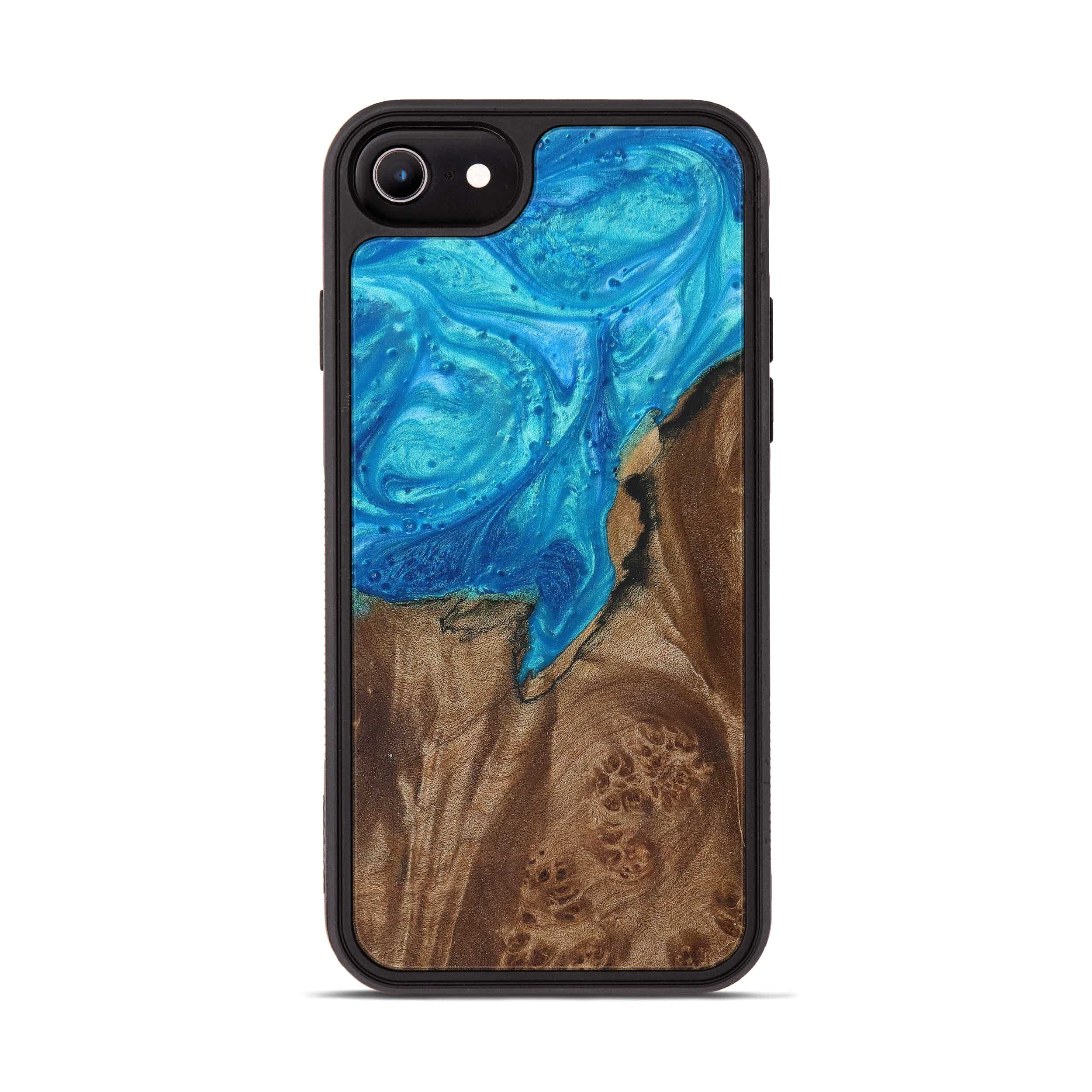 iPhone 6s Wood+Resin Phone Case - Janean (Light Blue, 387684)