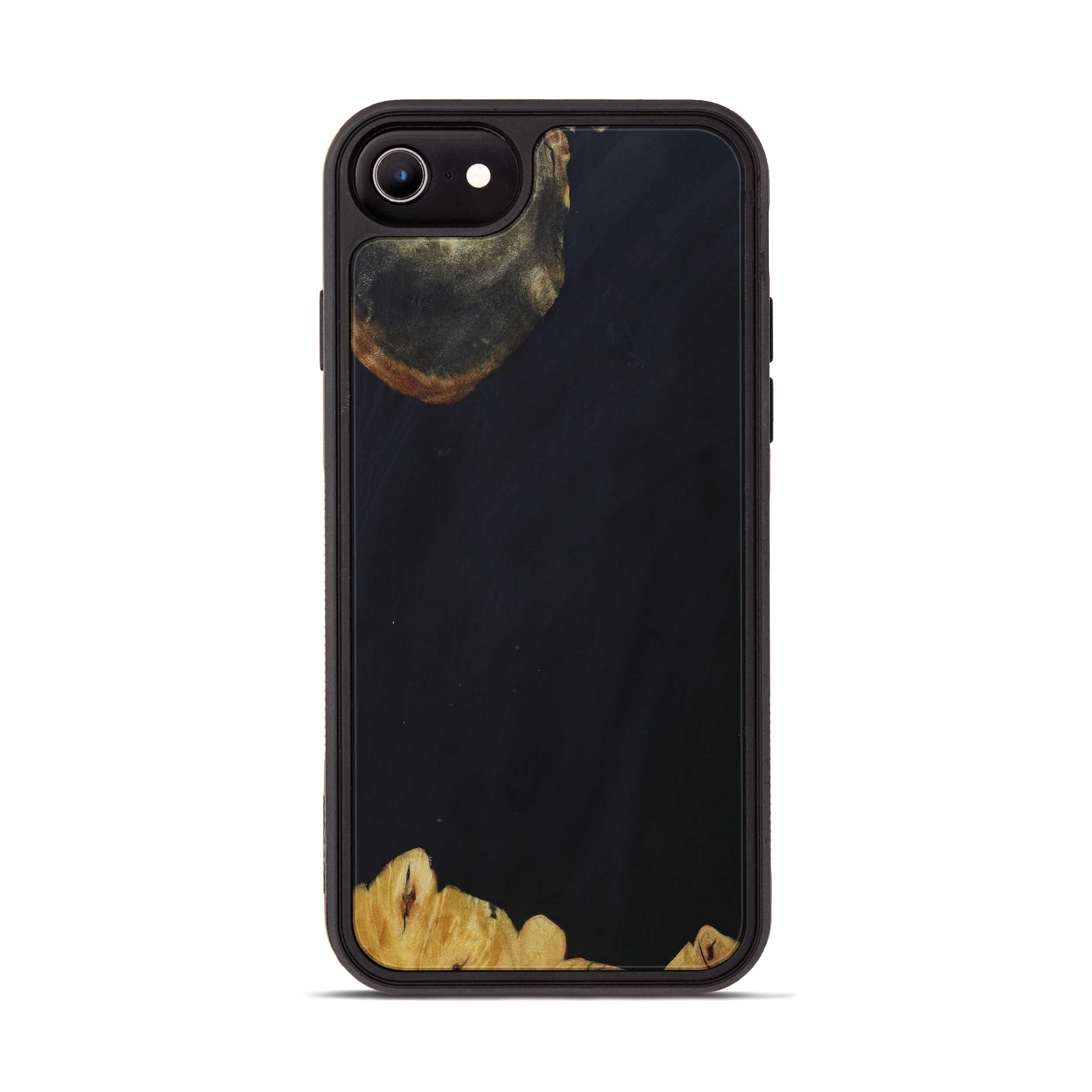 iPhone 6s Wood+Resin Phone Case - Steffane (Pure Black, 393220)