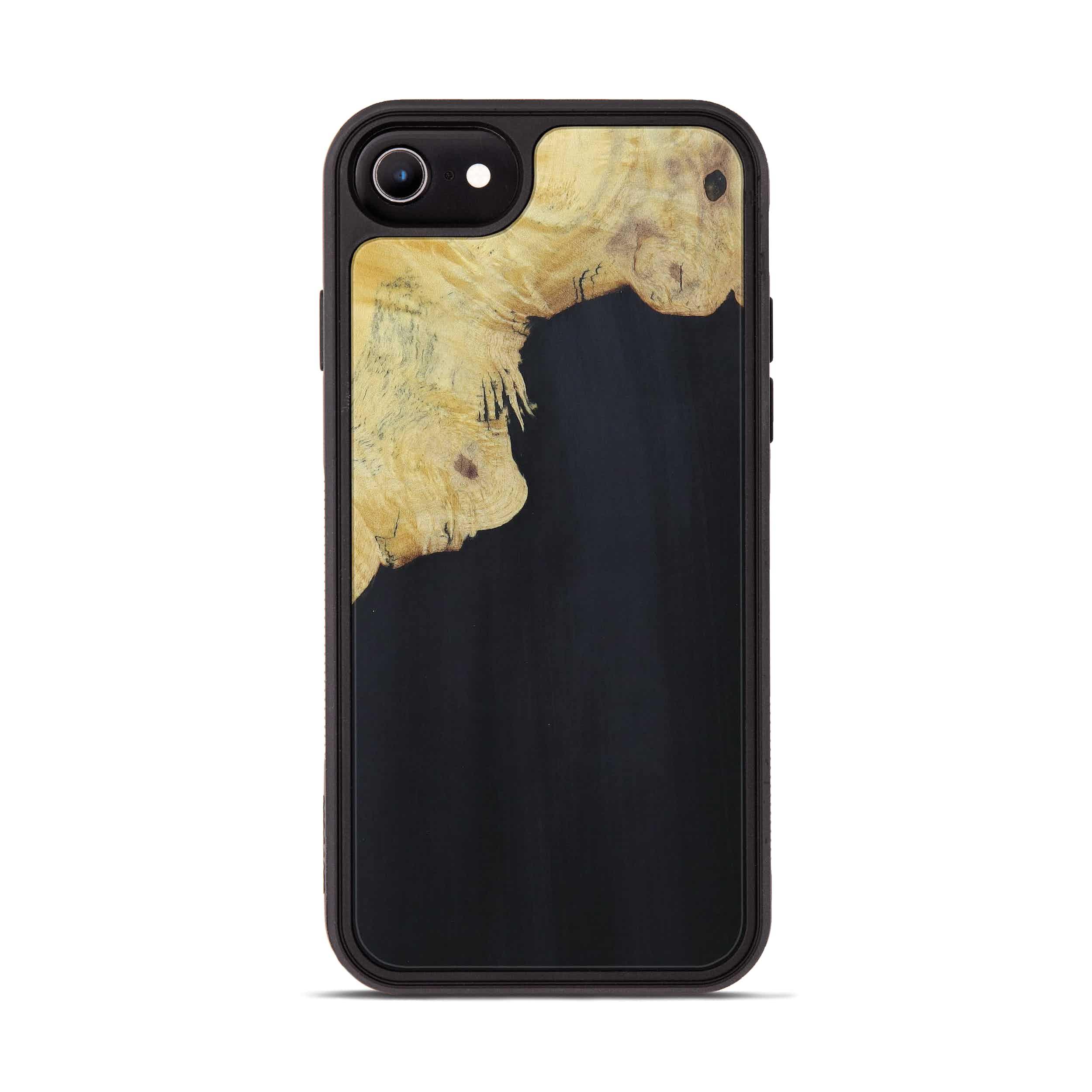 iPhone 6s Wood+Resin Phone Case - Kattie (Pure Black, 394227)