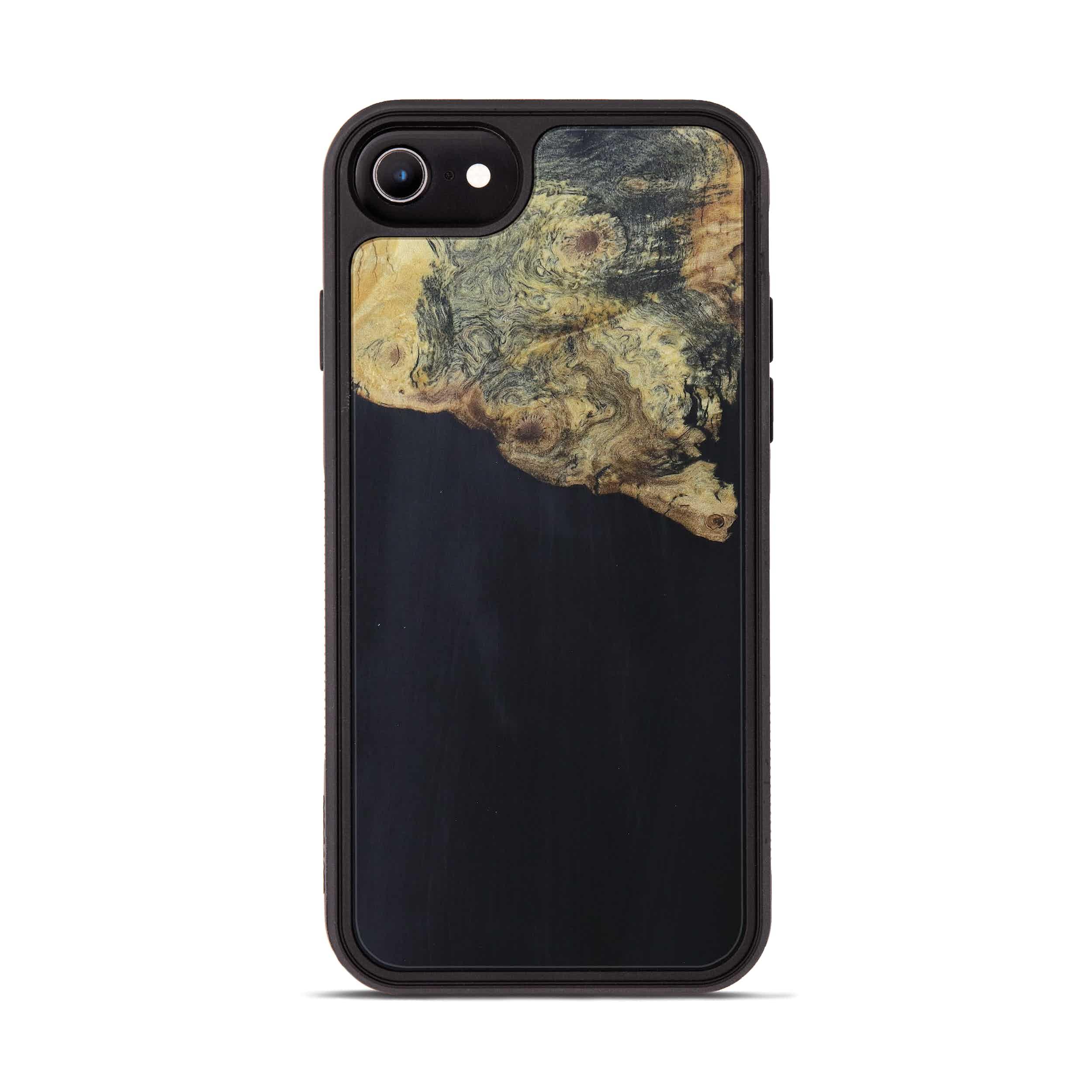 iPhone 6s Wood+Resin Phone Case - Arabel (Pure Black, 394228)
