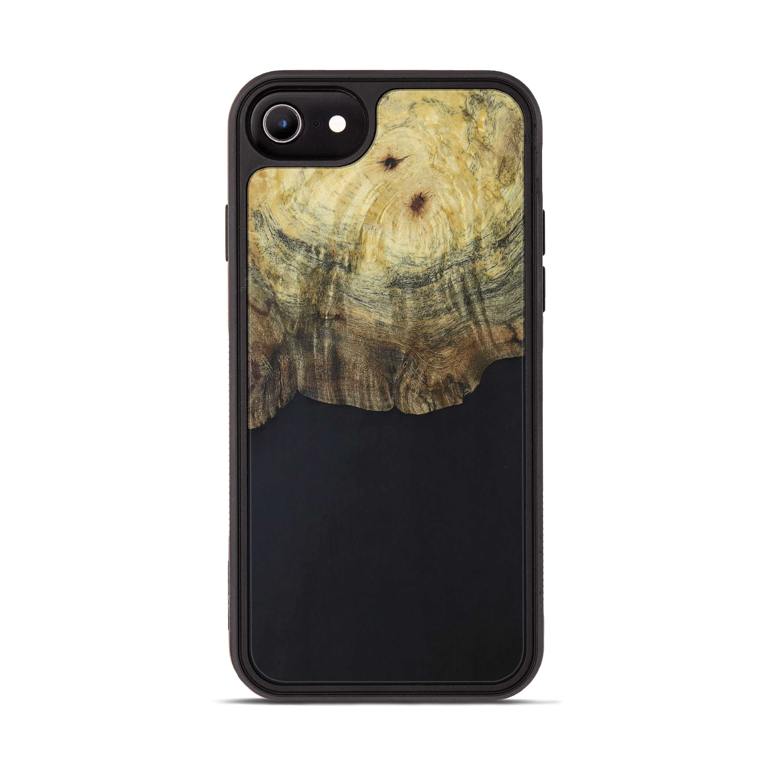 iPhone 8 Wood+Resin Phone Case - Walley (Pure Black, 394282)