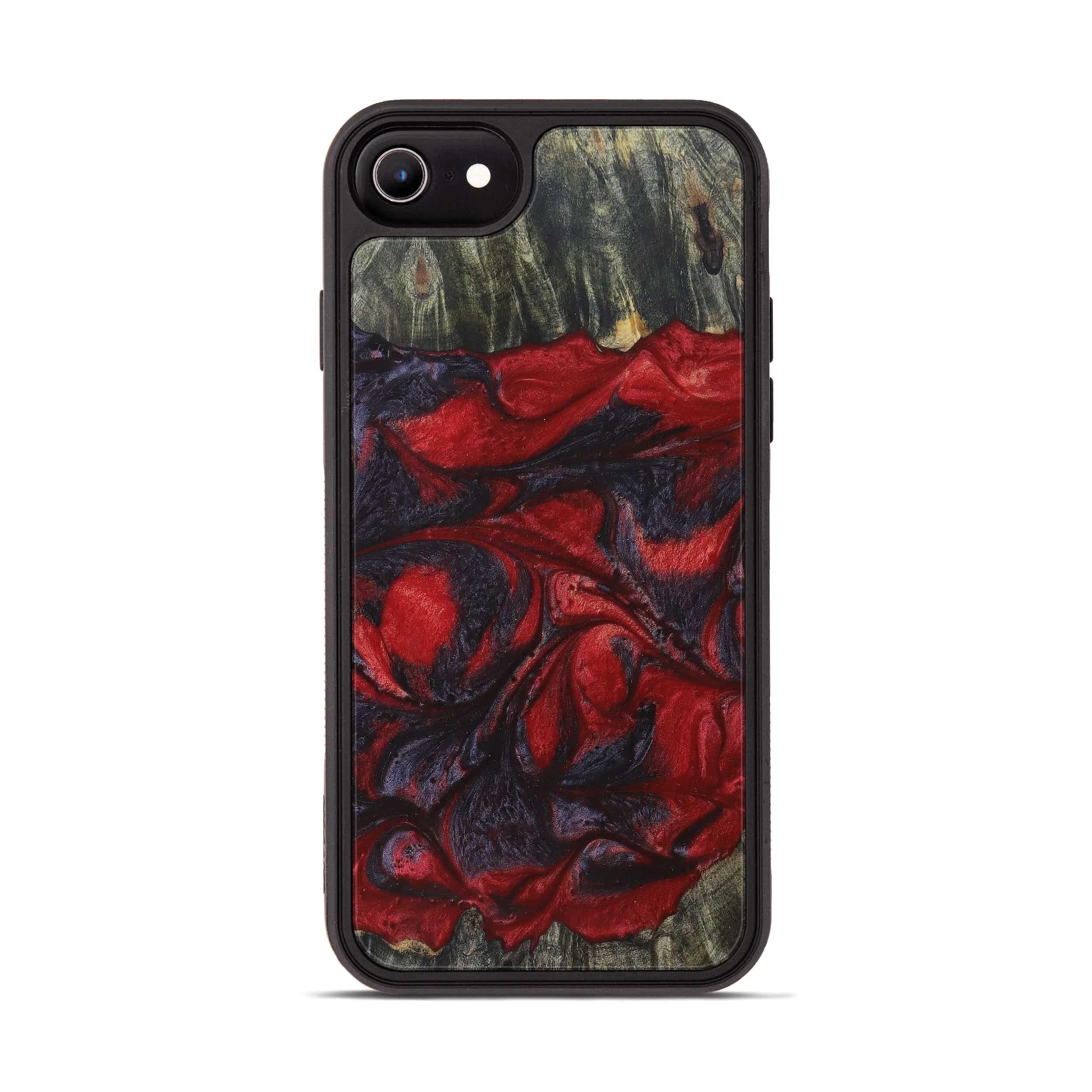 iPhone 8 Wood+Resin Phone Case - Constancia (Dark Red, 394321)