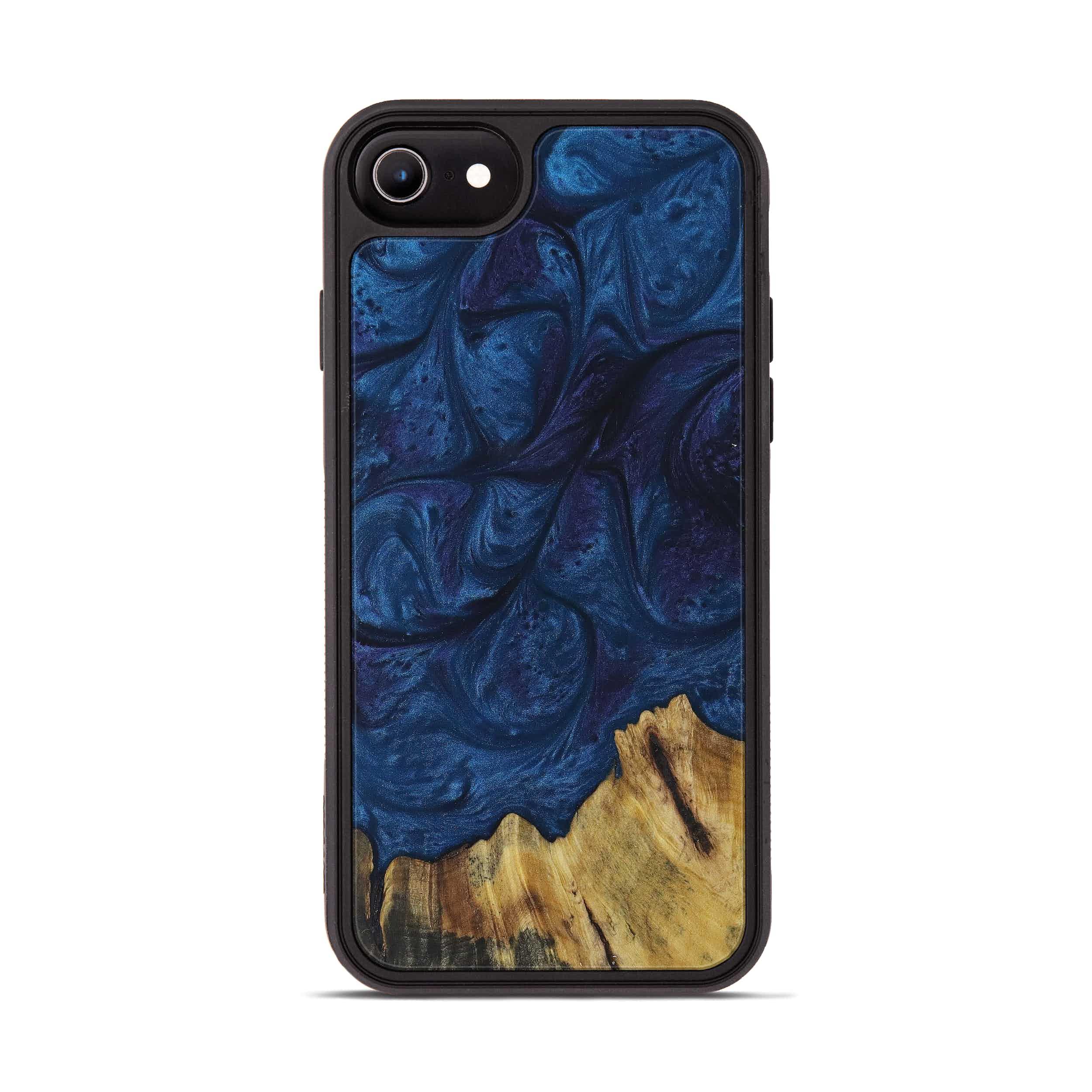 iPhone 7 Wood+Resin Phone Case - Hadria (Dark Blue, 394373)