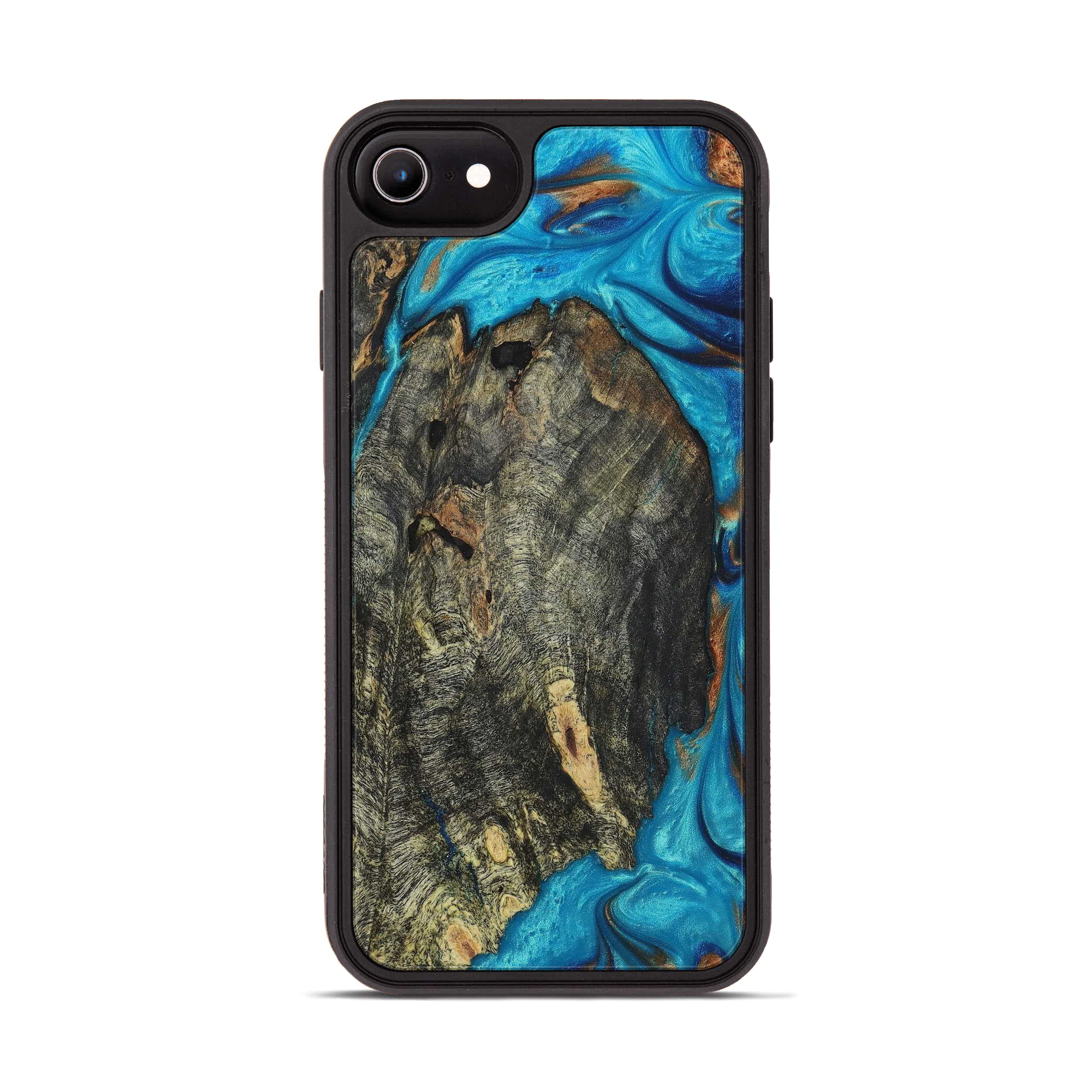 iPhone 6s Wood+Resin Phone Case - Lonnie (Teal & Gold, 394534)