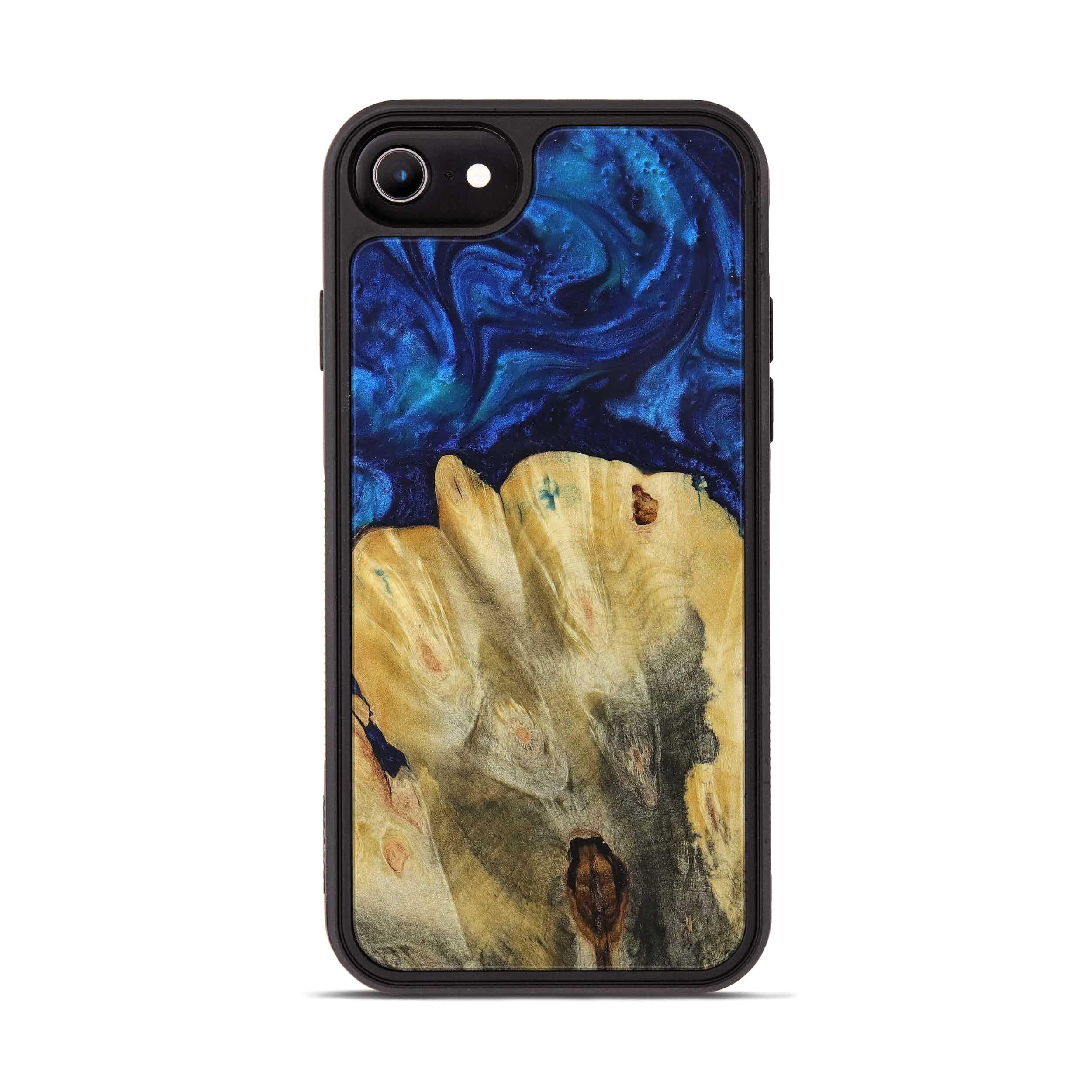 iPhone 8 Wood+Resin Phone Case - Milena (Dark Blue, 394575)