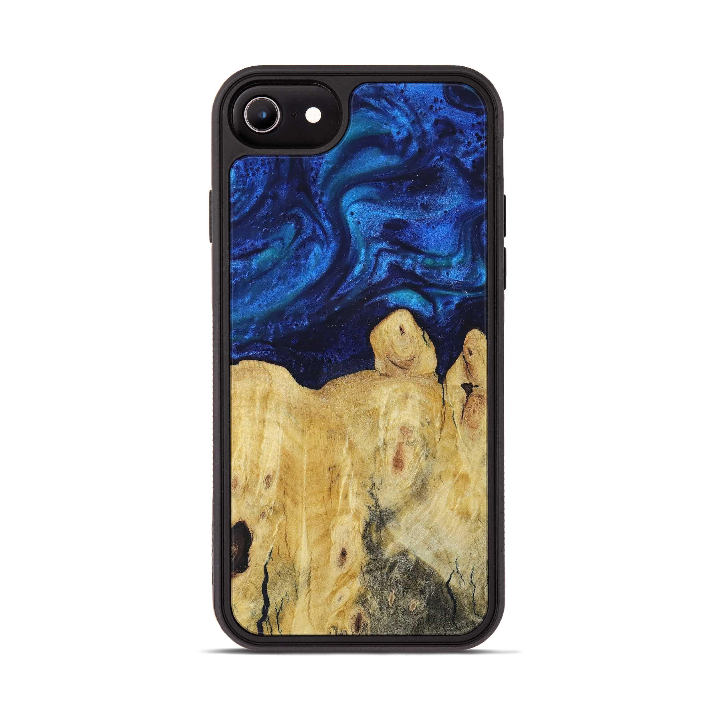 iPhone 8 Wood+Resin Phone Case - Donnamarie (Dark Blue, 394582)