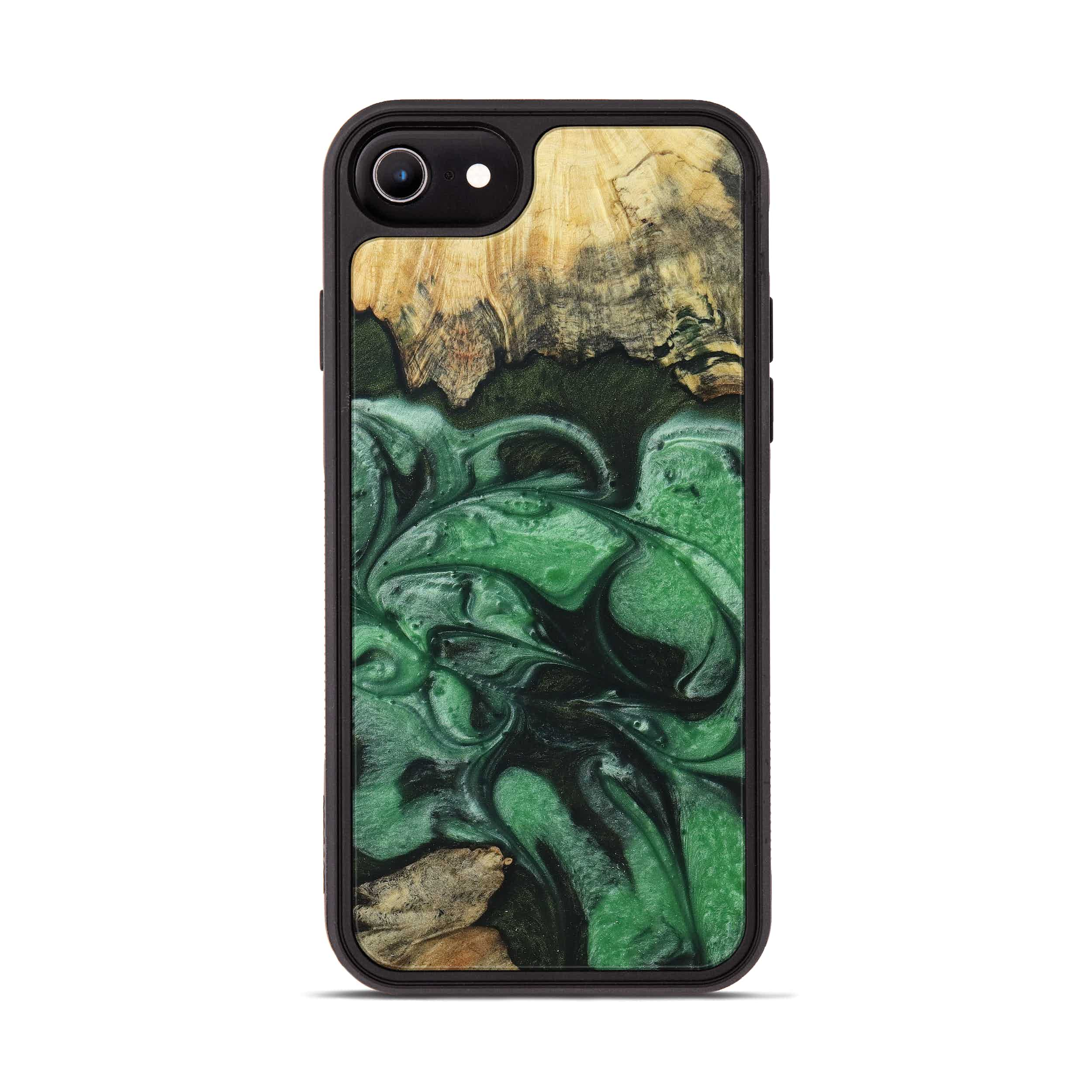 iPhone 6s Wood+Resin Phone Case - Margi (Dark Green, 394605)