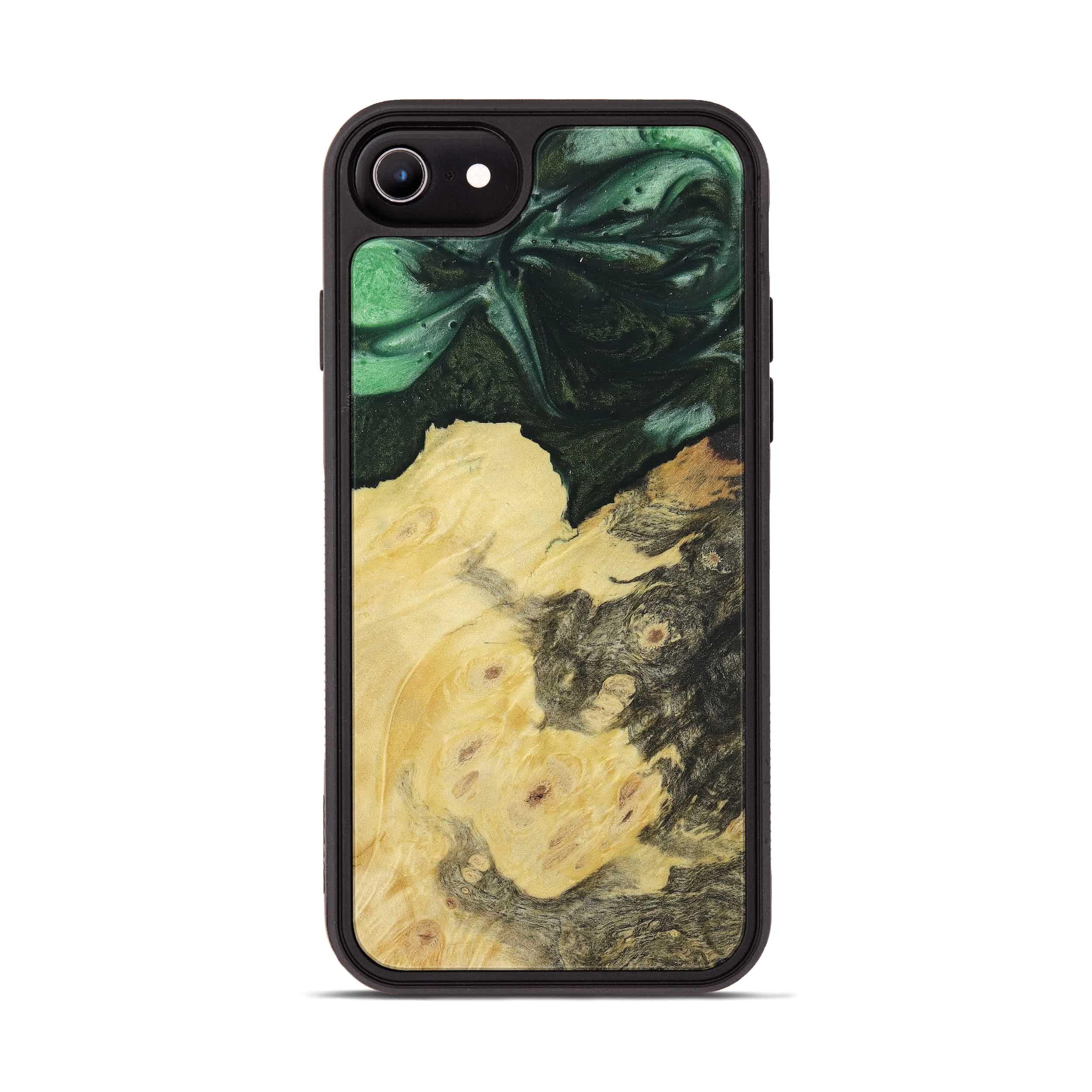iPhone 6s Wood+Resin Phone Case - Pammi (Dark Green, 394616)