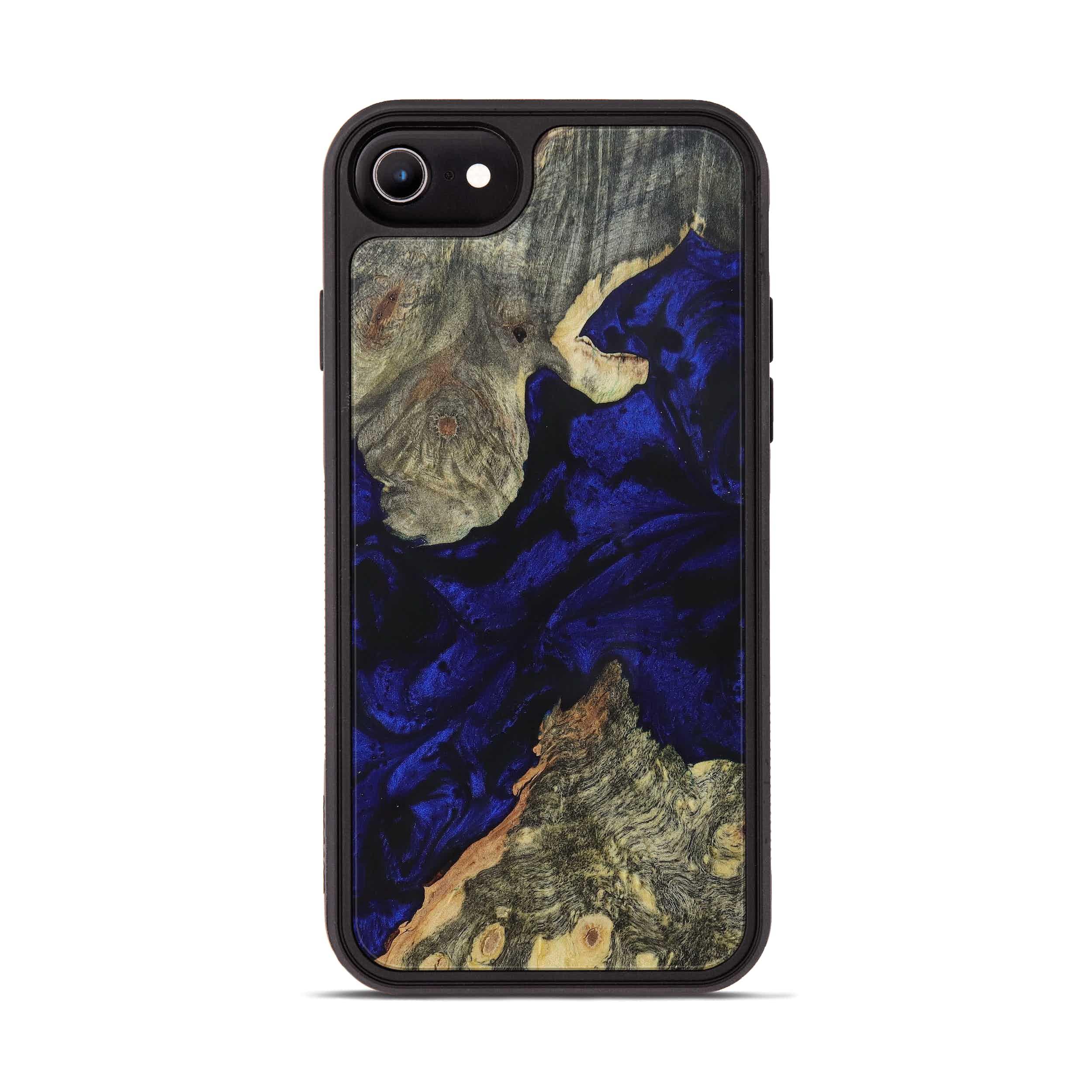 iPhone 8 Wood+Resin Phone Case - Rhiamon (Dark Blue, 394678)