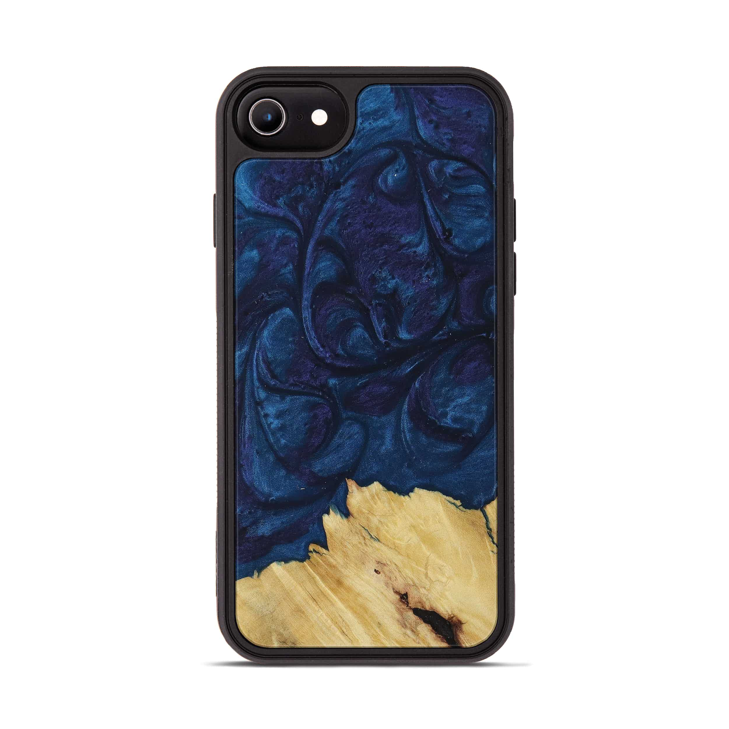 iPhone 6s Wood+Resin Phone Case - Izumi (Dark Blue, 394715)