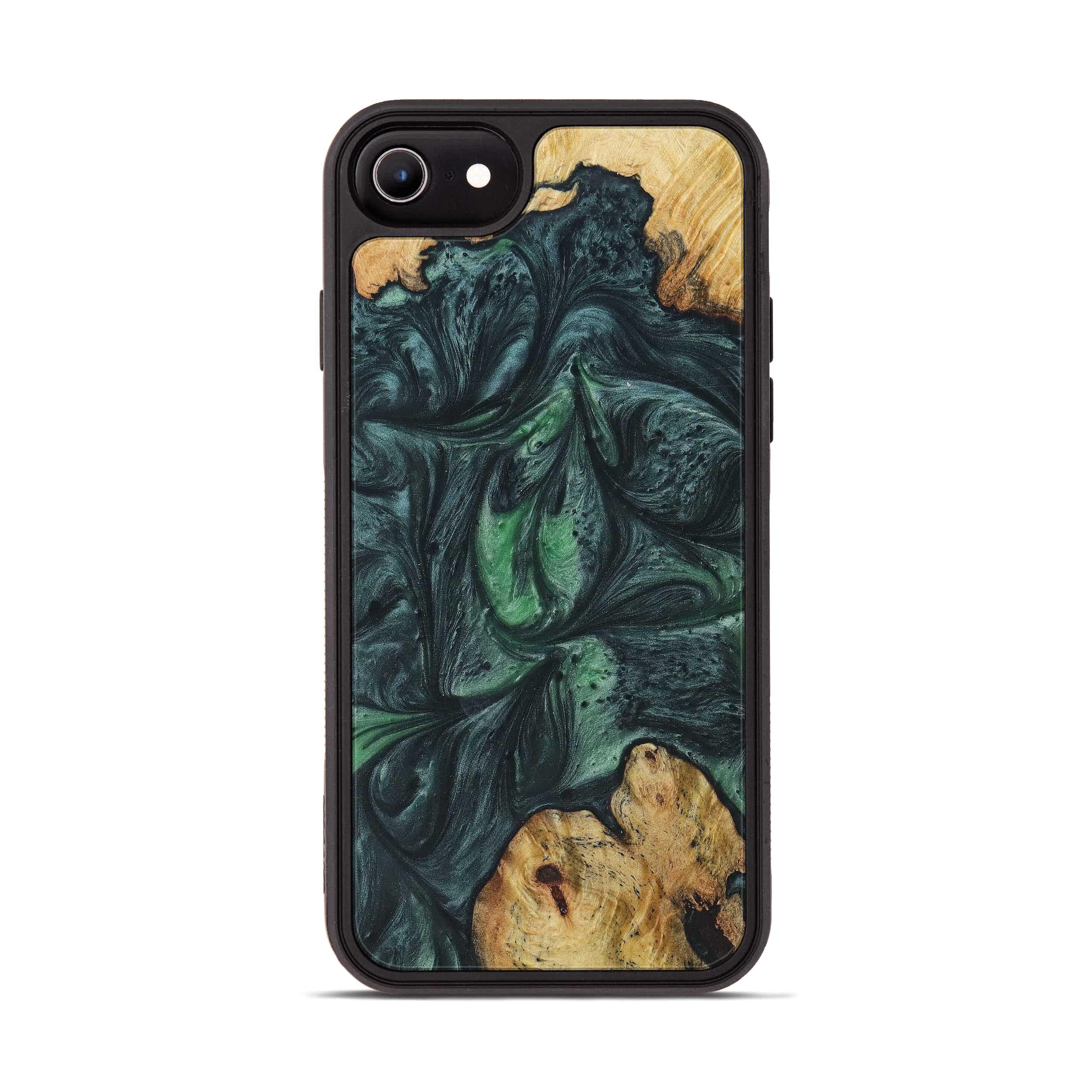 iPhone 6s Wood+Resin Phone Case - Lib (Dark Green, 394723)