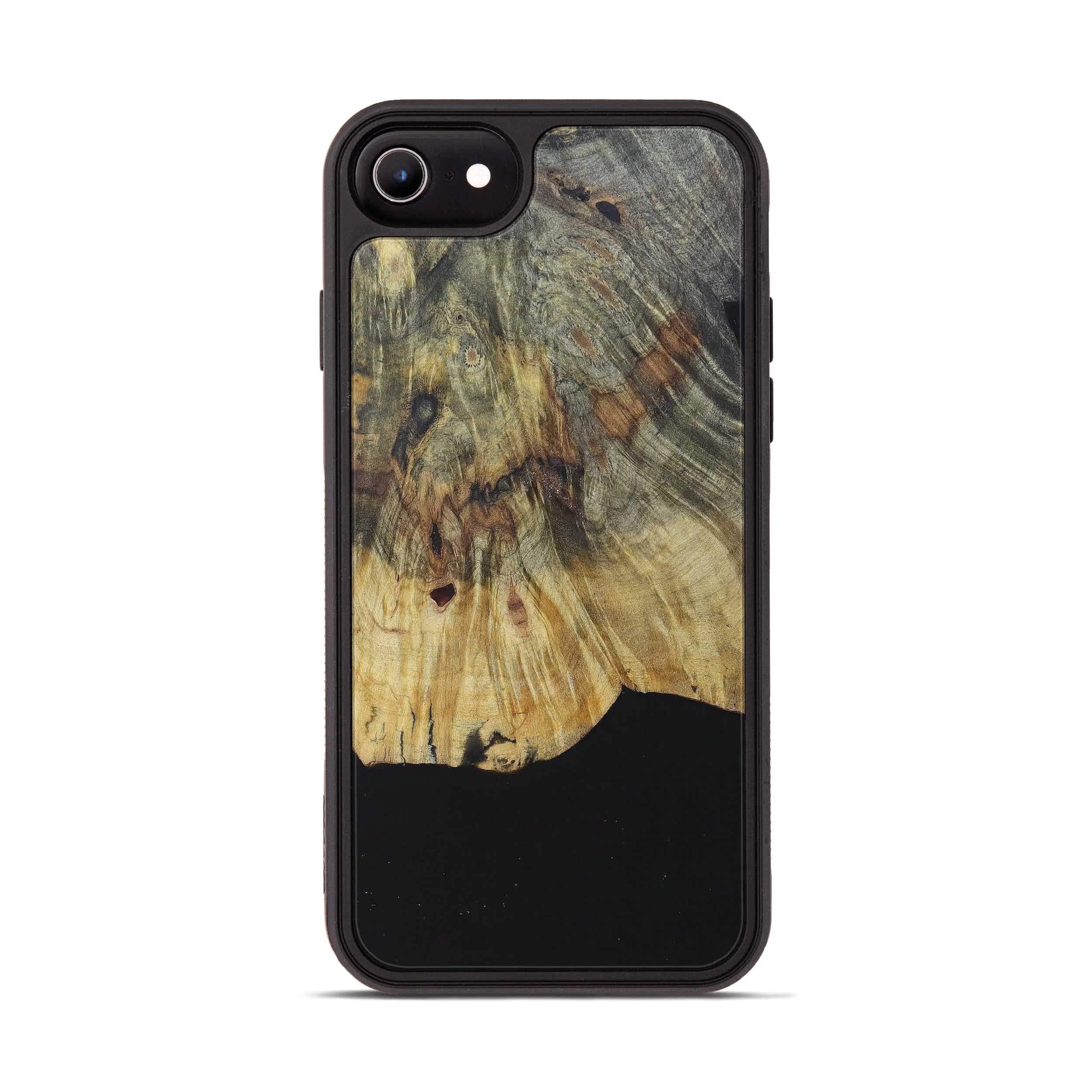 iPhone 8 Wood+Resin Phone Case - Meta (Pure Black, 394734)