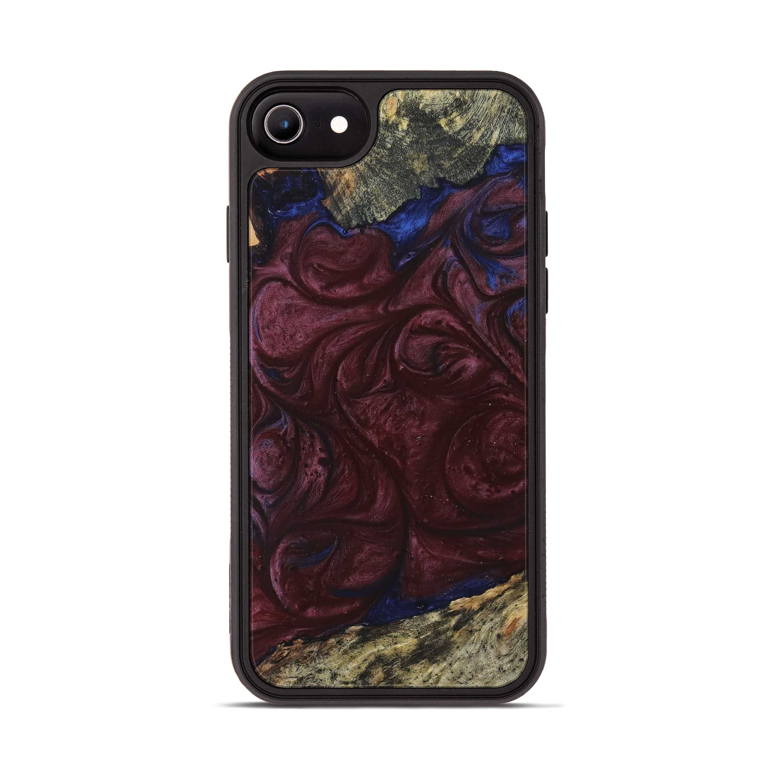iPhone 6s Wood+Resin Phone Case - Anhtuan (Blue & Red, 394789)