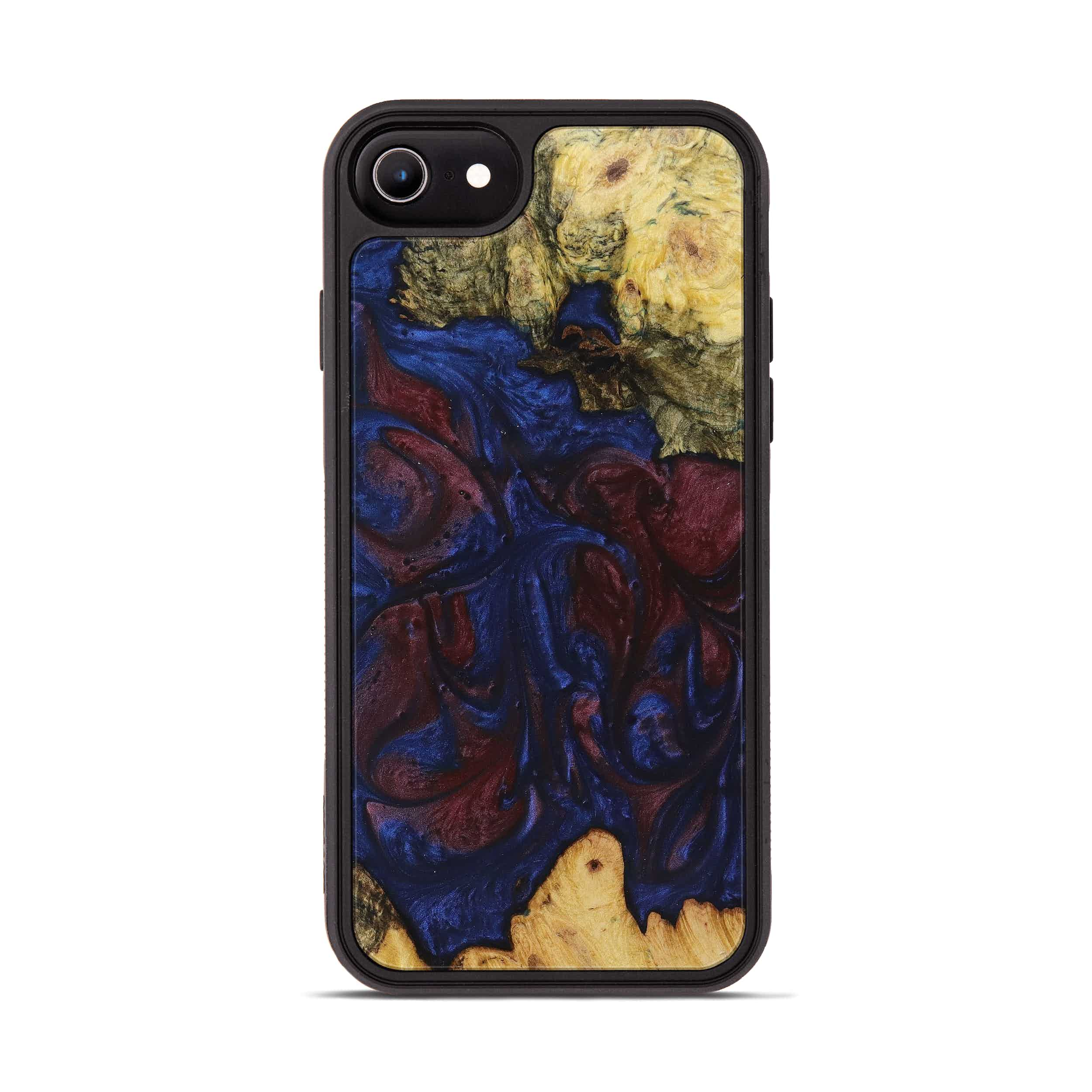 iPhone 6s Wood+Resin Phone Case - Tamqrah (Blue & Red, 394790)