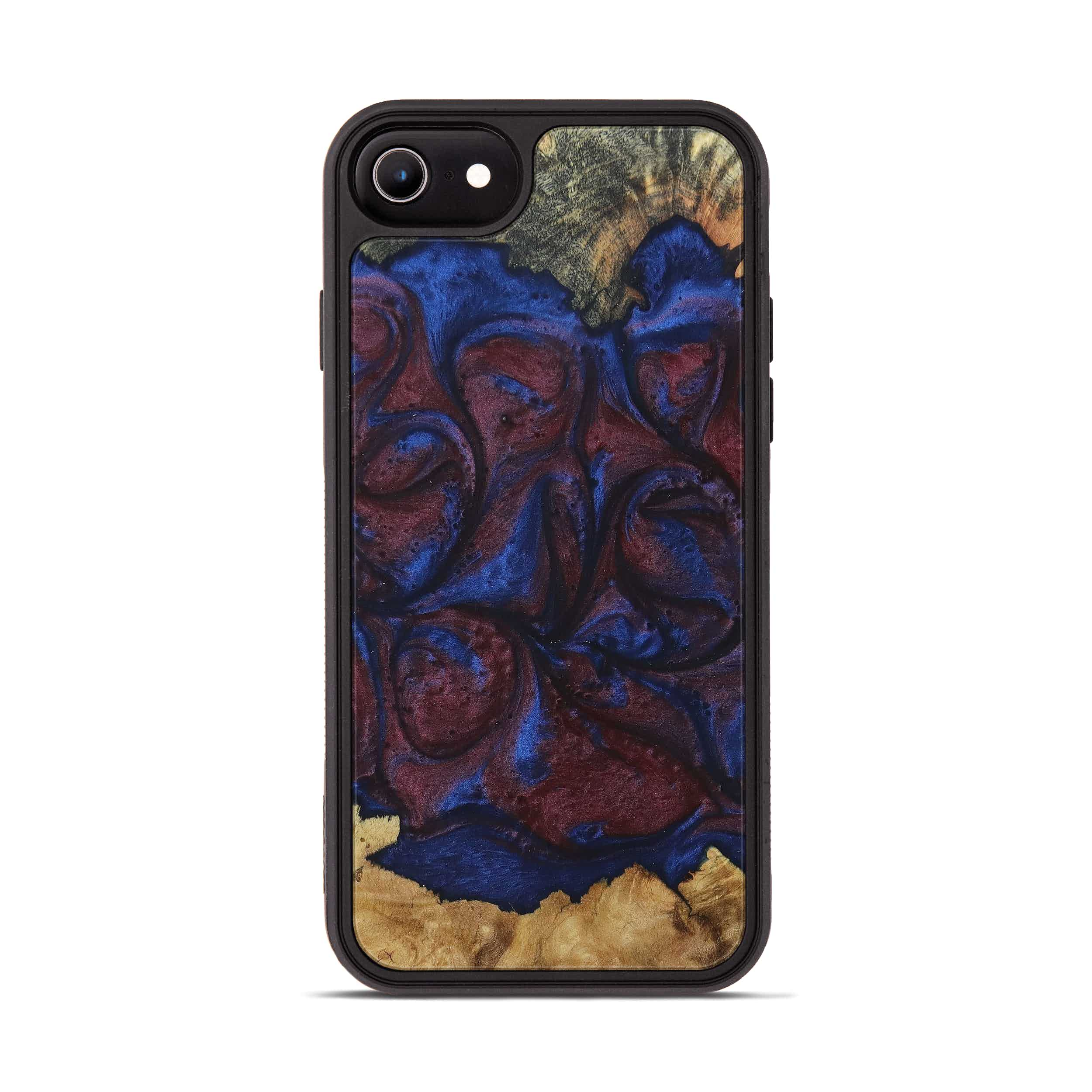 iPhone 6s Wood+Resin Phone Case - Mireielle (Blue & Red, 394797)