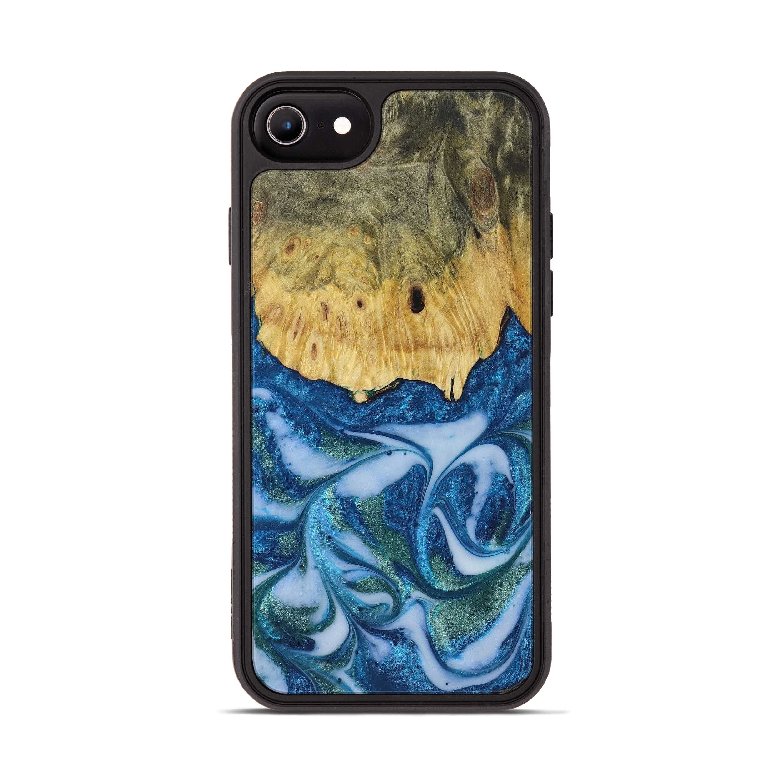 iPhone 8 Wood+Resin Phone Case - Rosanne (Light Blue, 394822)