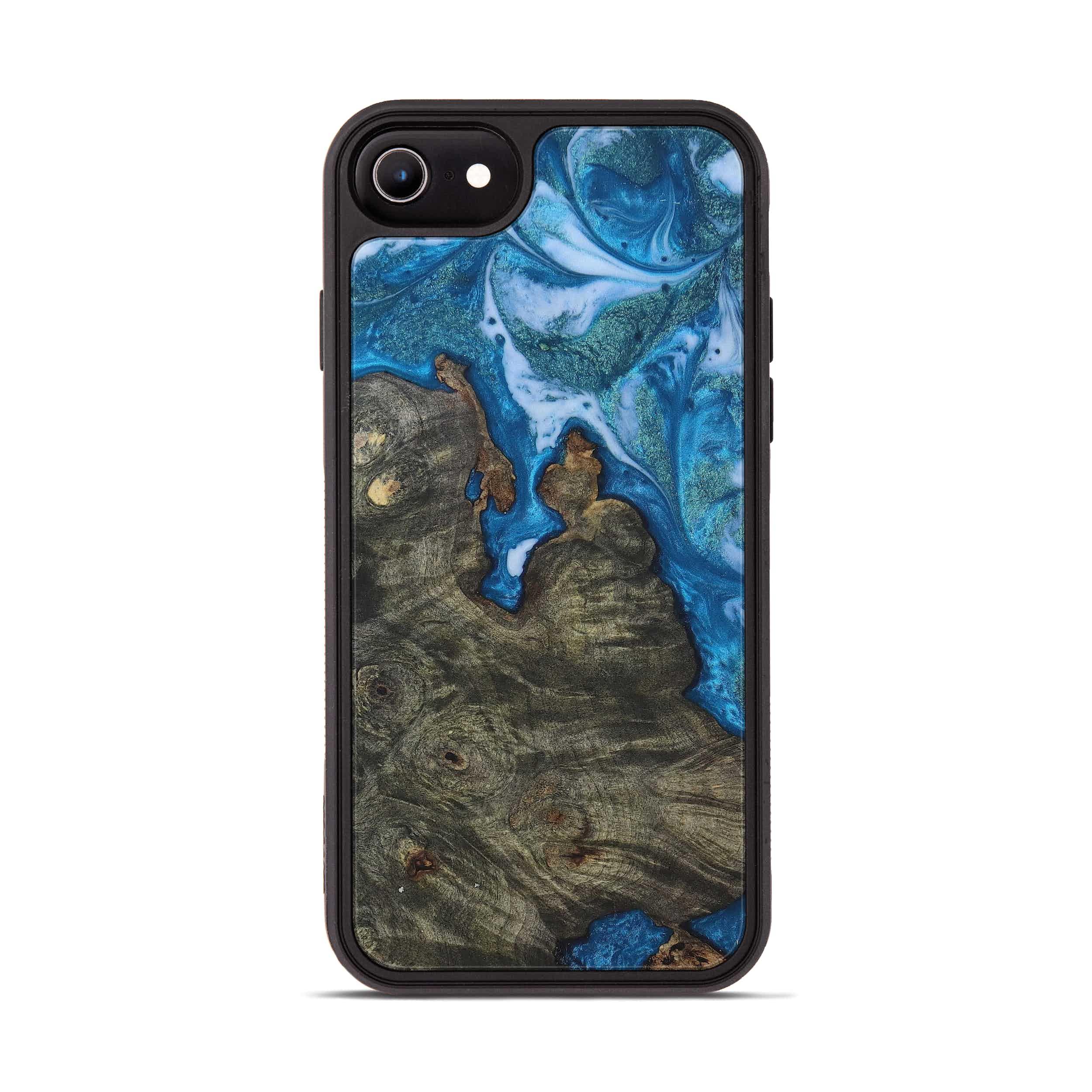 iPhone 8 Wood+Resin Phone Case - Hoekstra (Light Blue, 394824)