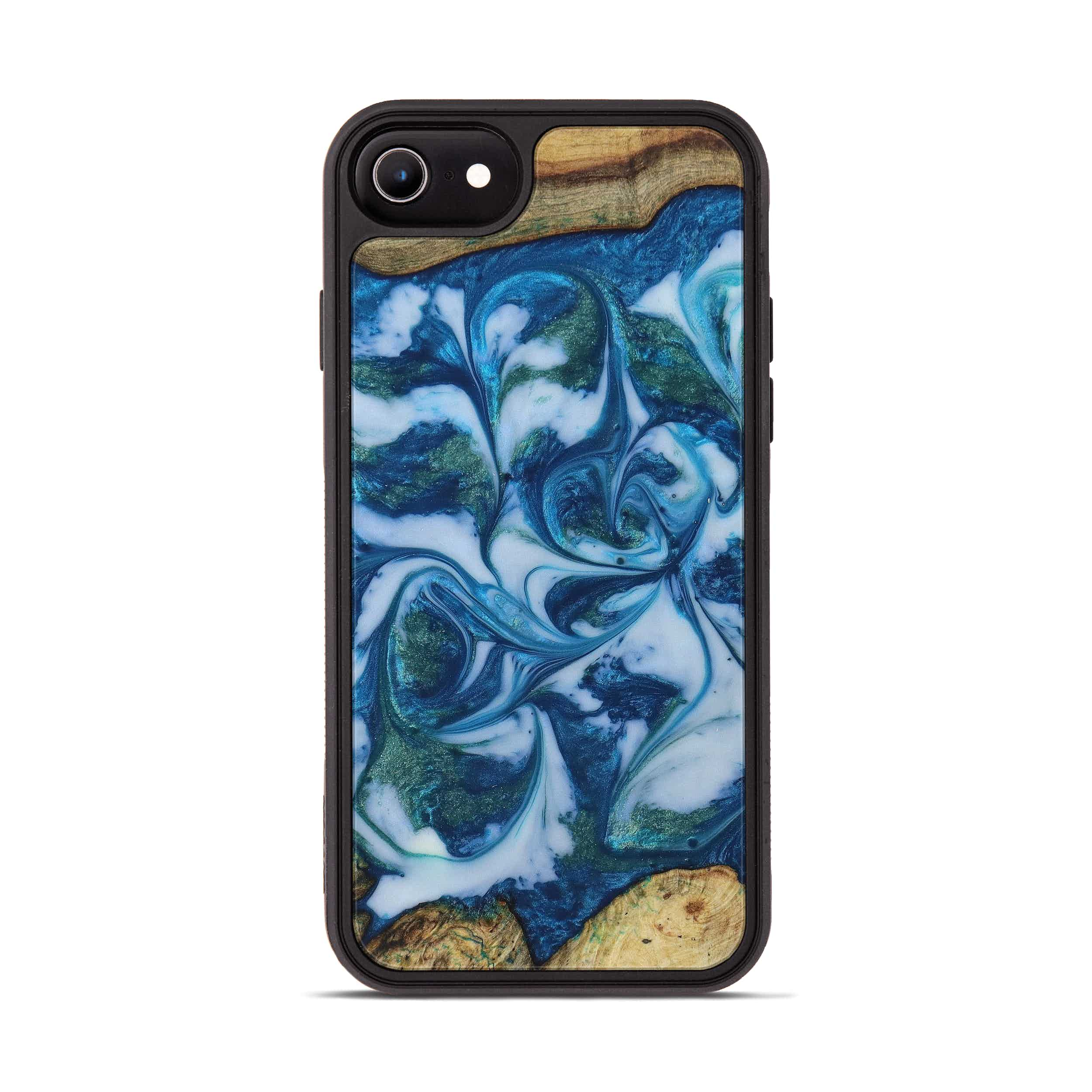 iPhone 6s Wood+Resin Phone Case - Maurijn (Light Blue, 394829)