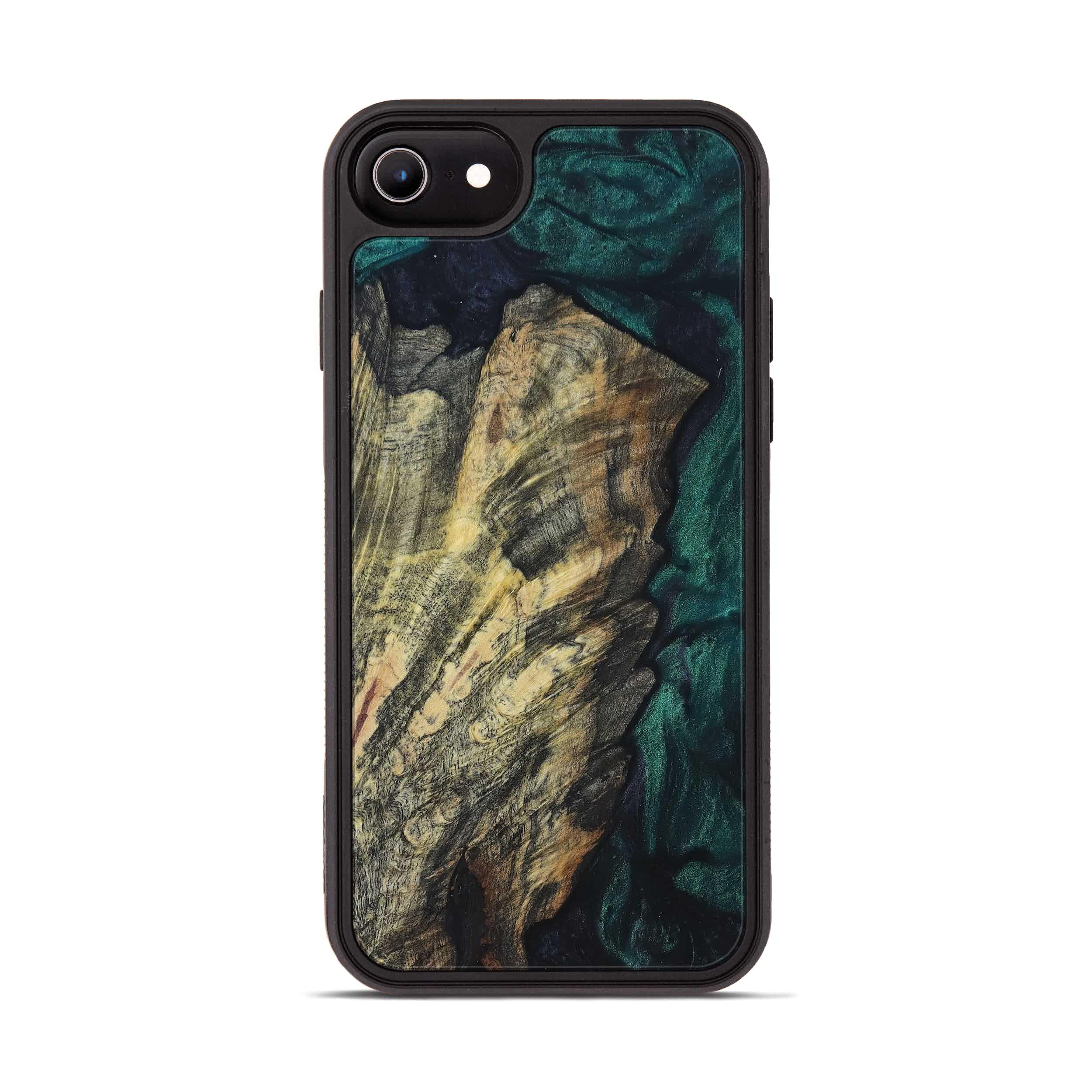iPhone 8 Wood+Resin Phone Case - Vally (Dark Green, 394853)