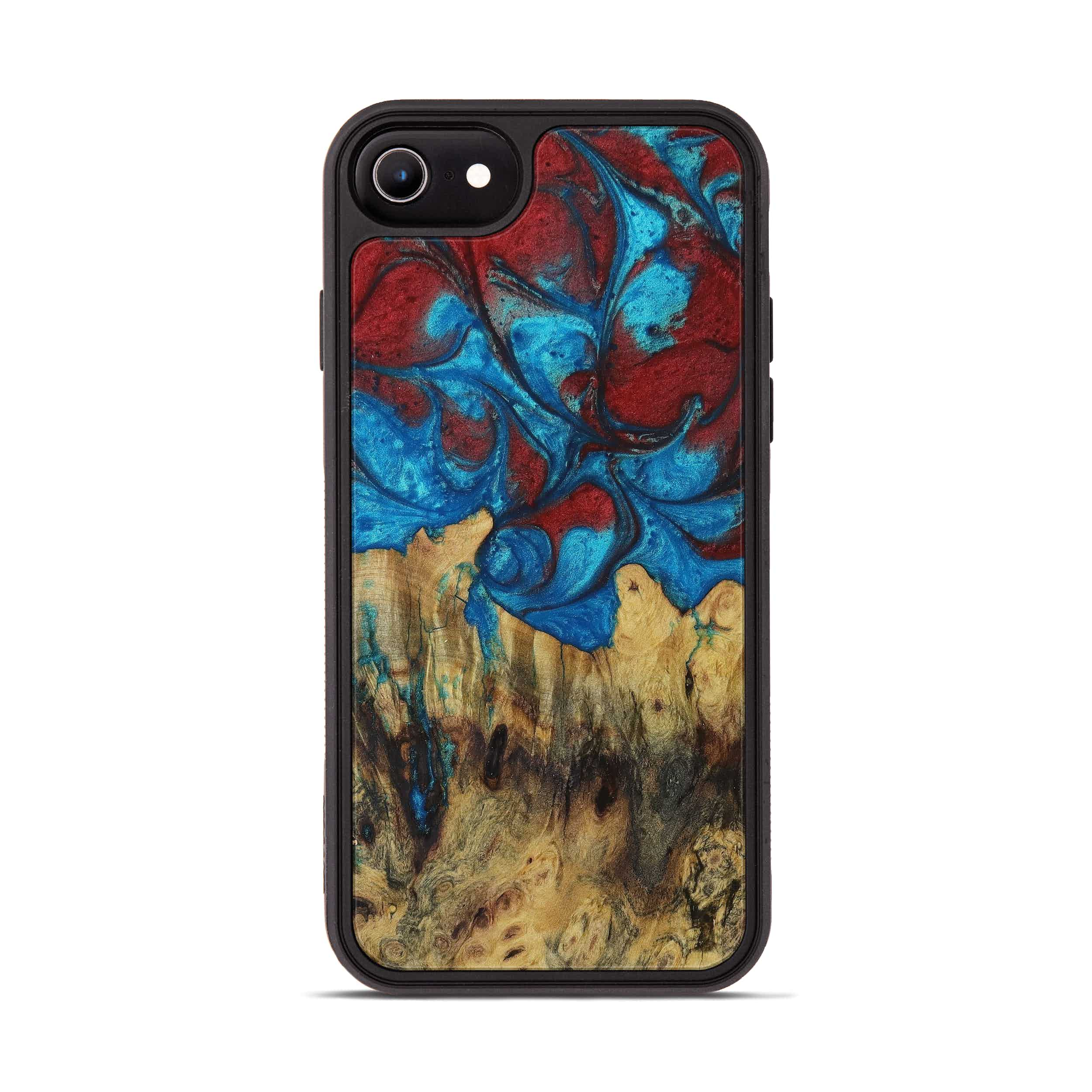 iPhone 6s Wood+Resin Phone Case - Dniren (Blue & Red, 395010)