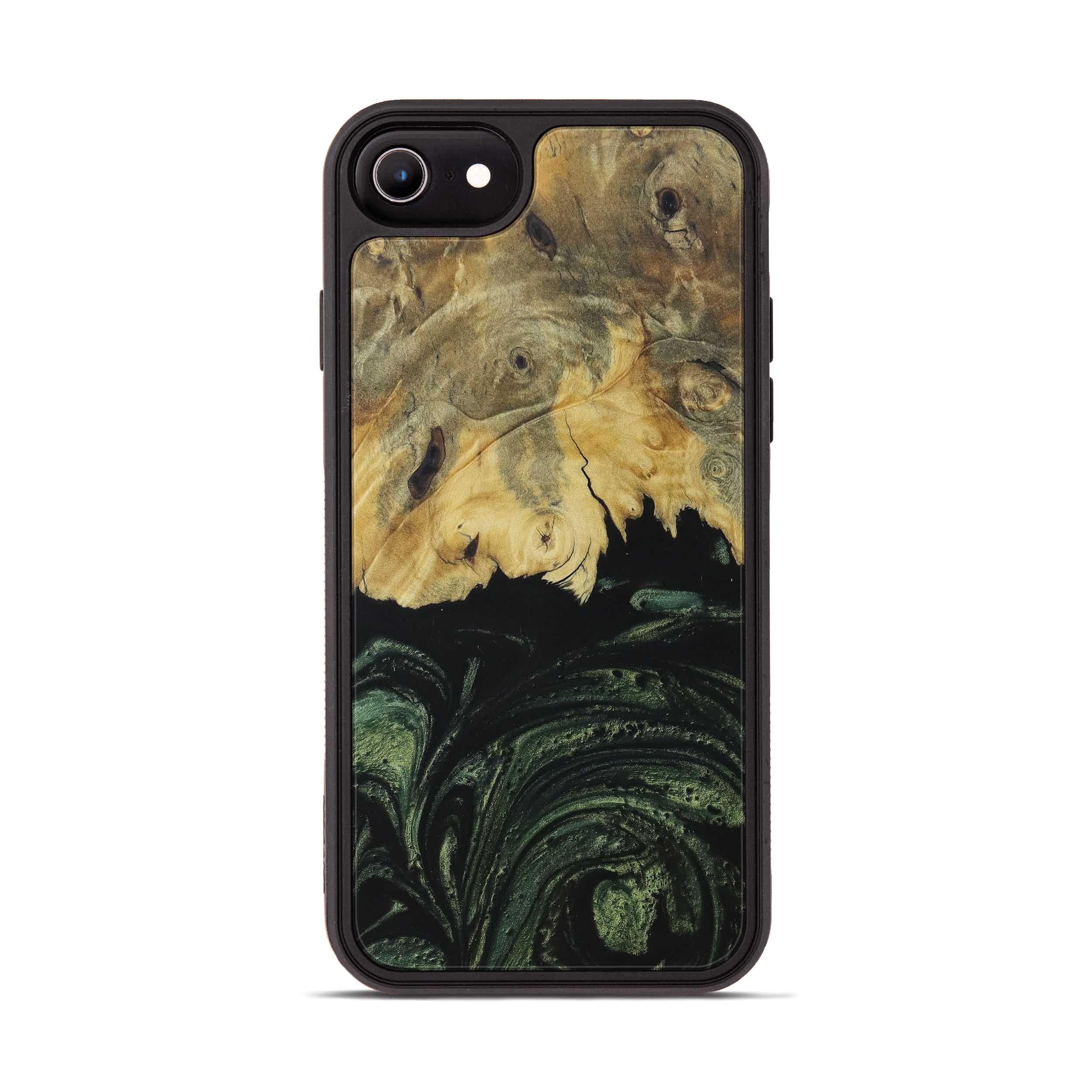 iPhone 6s Wood+Resin Phone Case - Gleda (Dark Green, 395049)