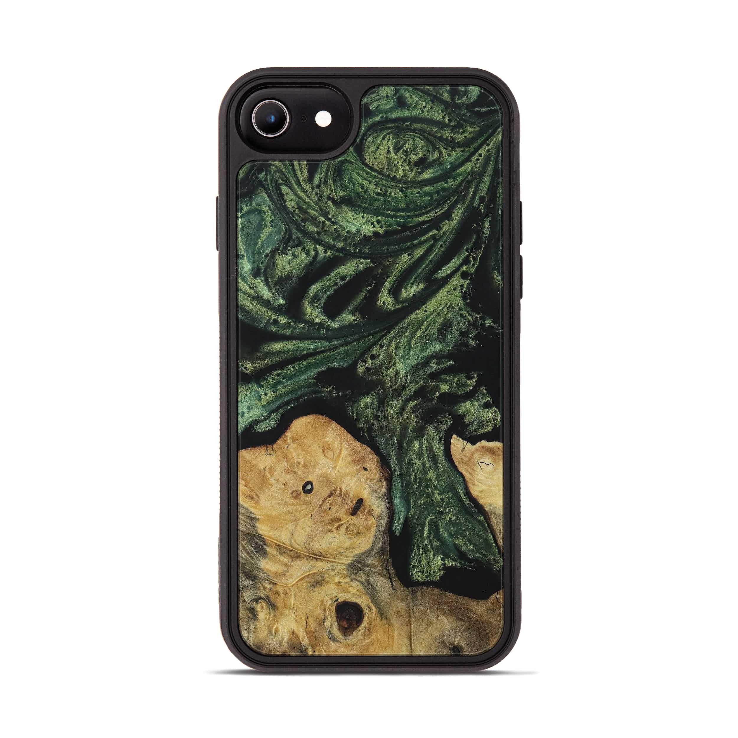 iPhone 6s Wood+Resin Phone Case - Wieslawa (Dark Green, 395071)