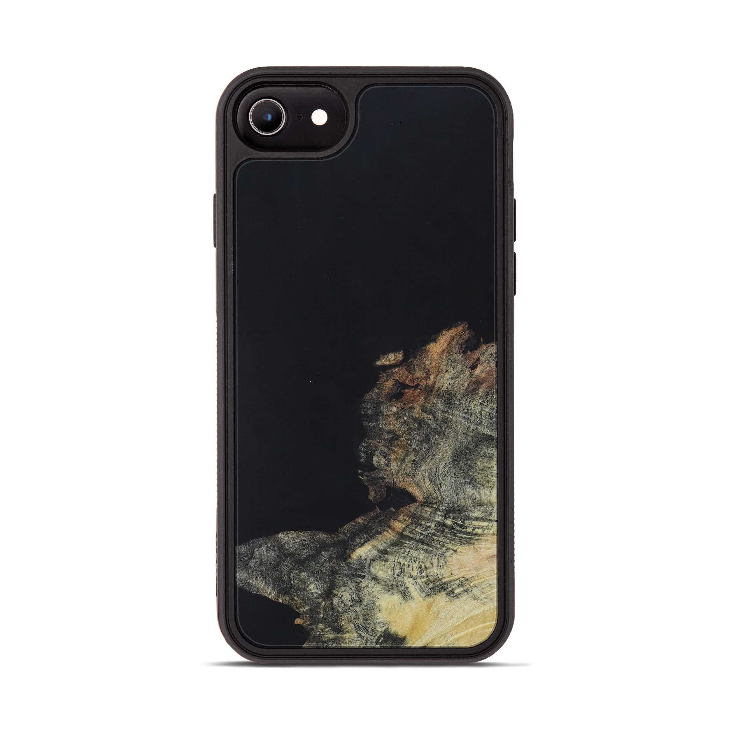 iPhone 6s Wood+Resin Phone Case - Arne (Pure Black, 395150)