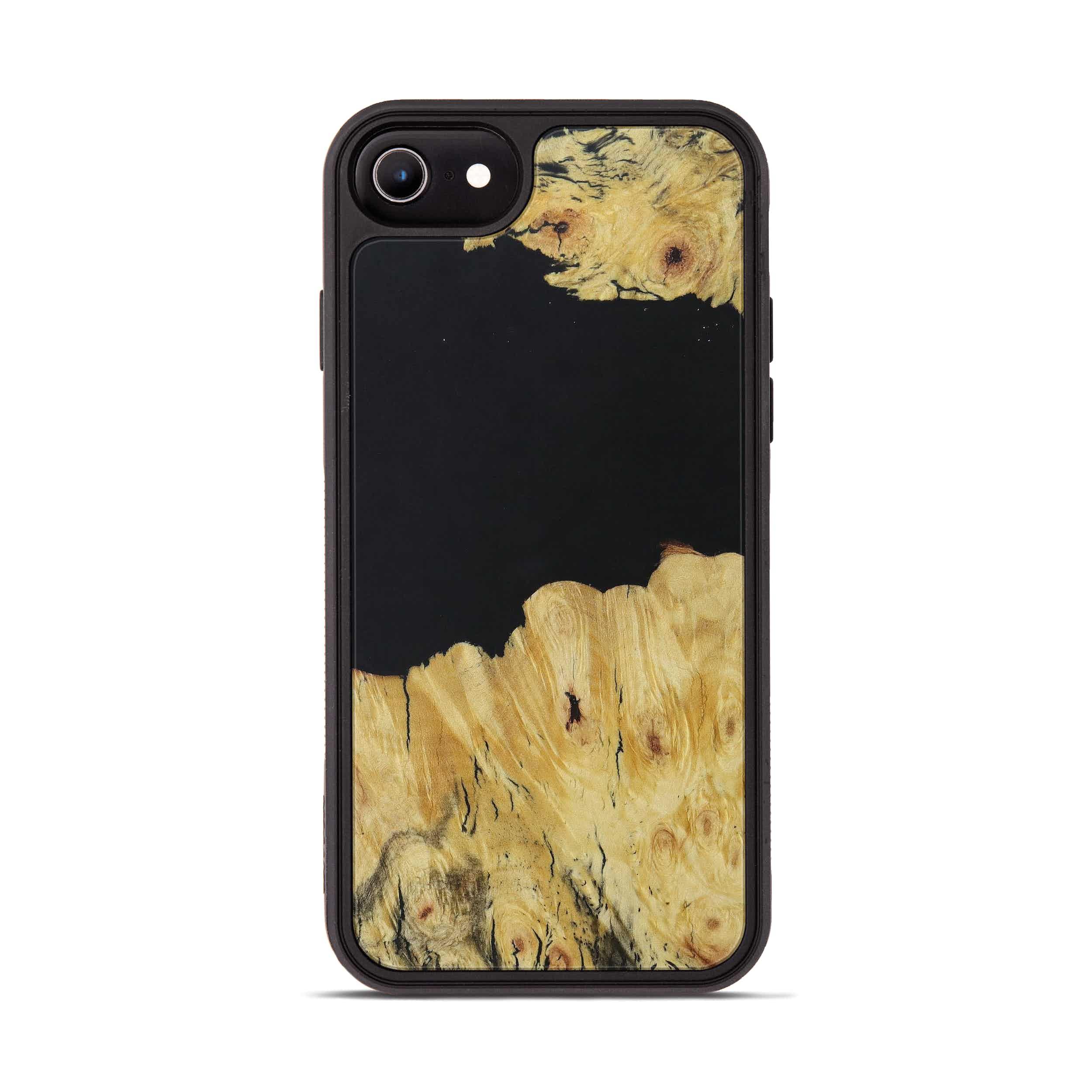 iPhone 6s Wood+Resin Phone Case - Darelle (Pure Black, 395155)