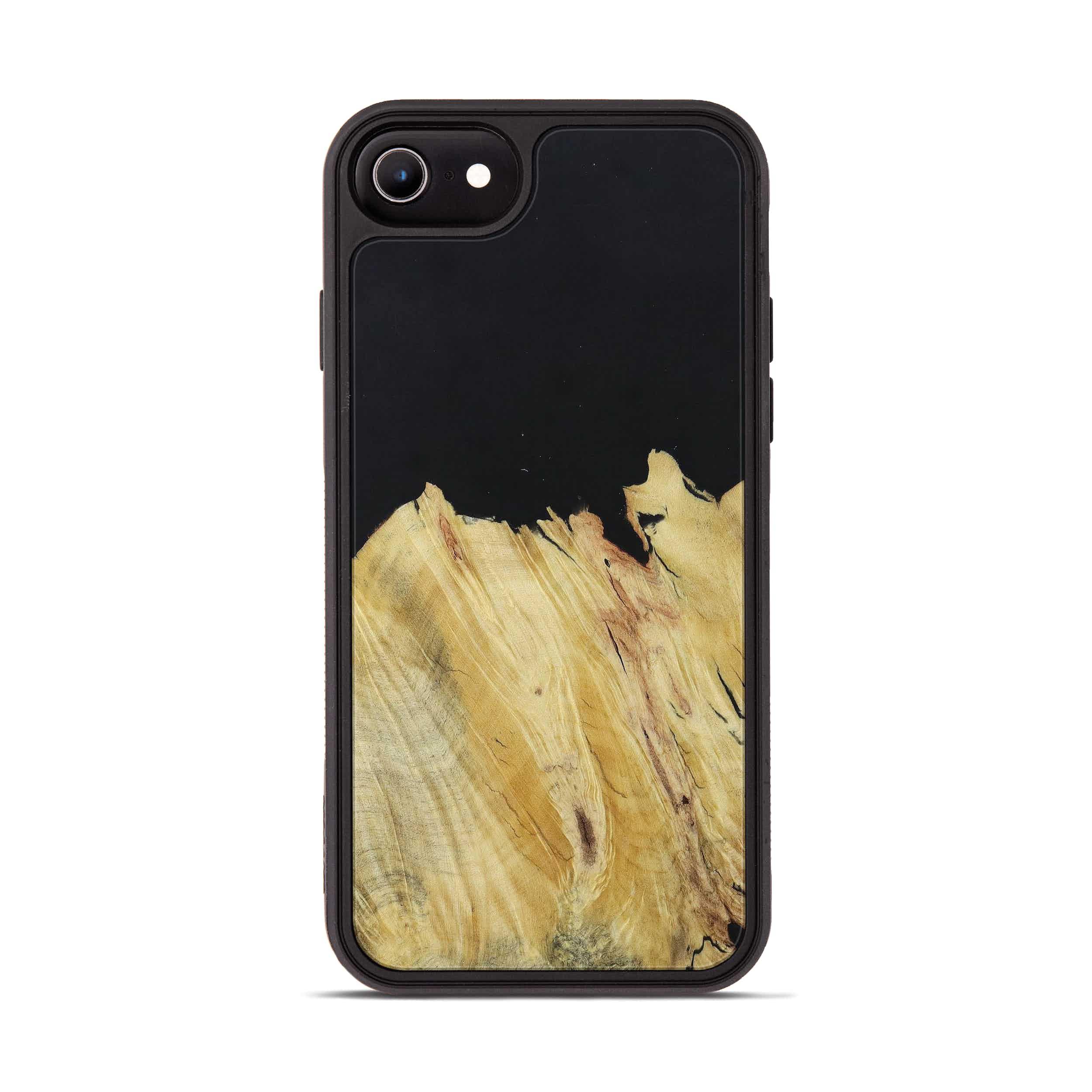 iPhone 6s Wood+Resin Phone Case - Matthew (Pure Black, 395165)