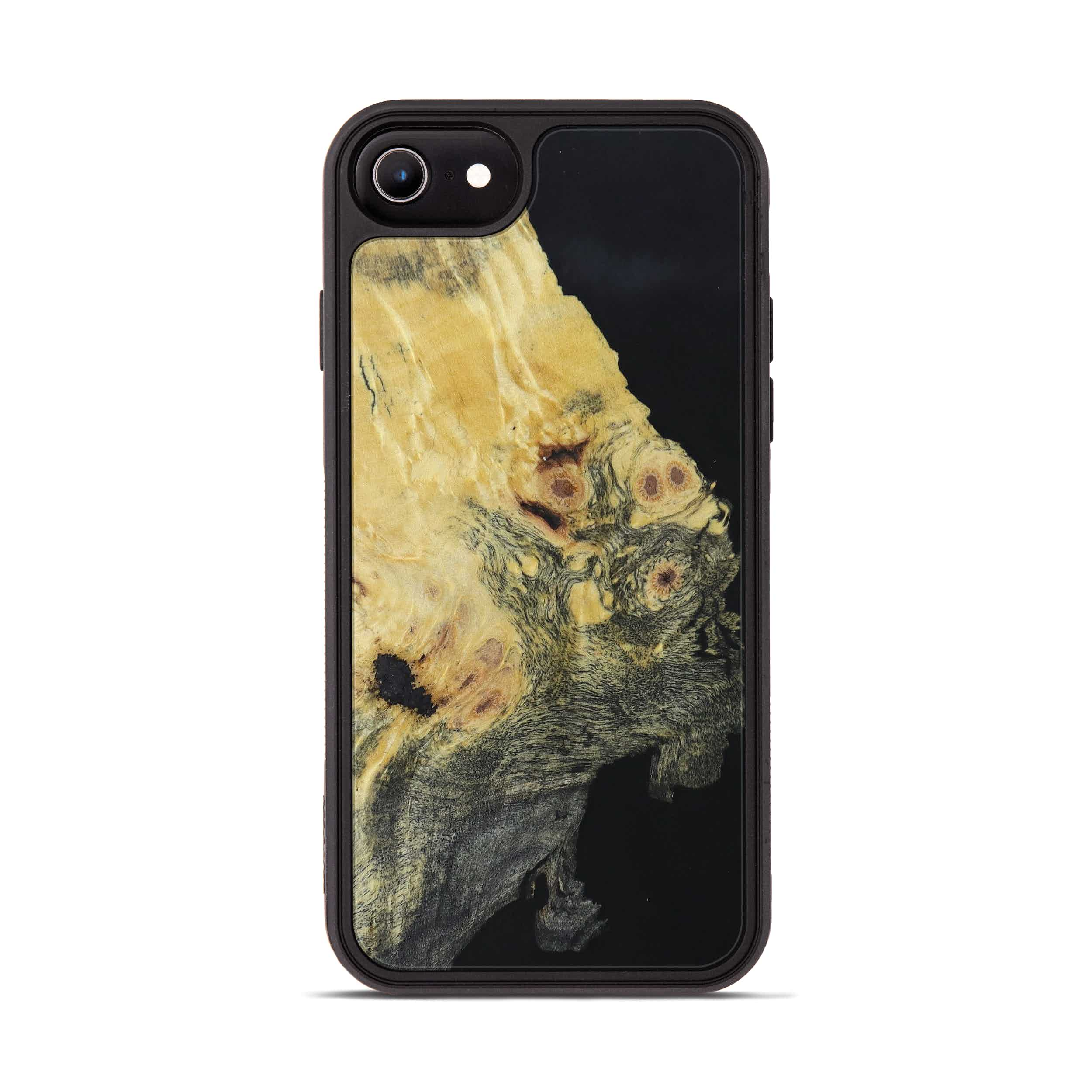 iPhone 6s Wood+Resin Phone Case - Labfive (Pure Black, 395167)