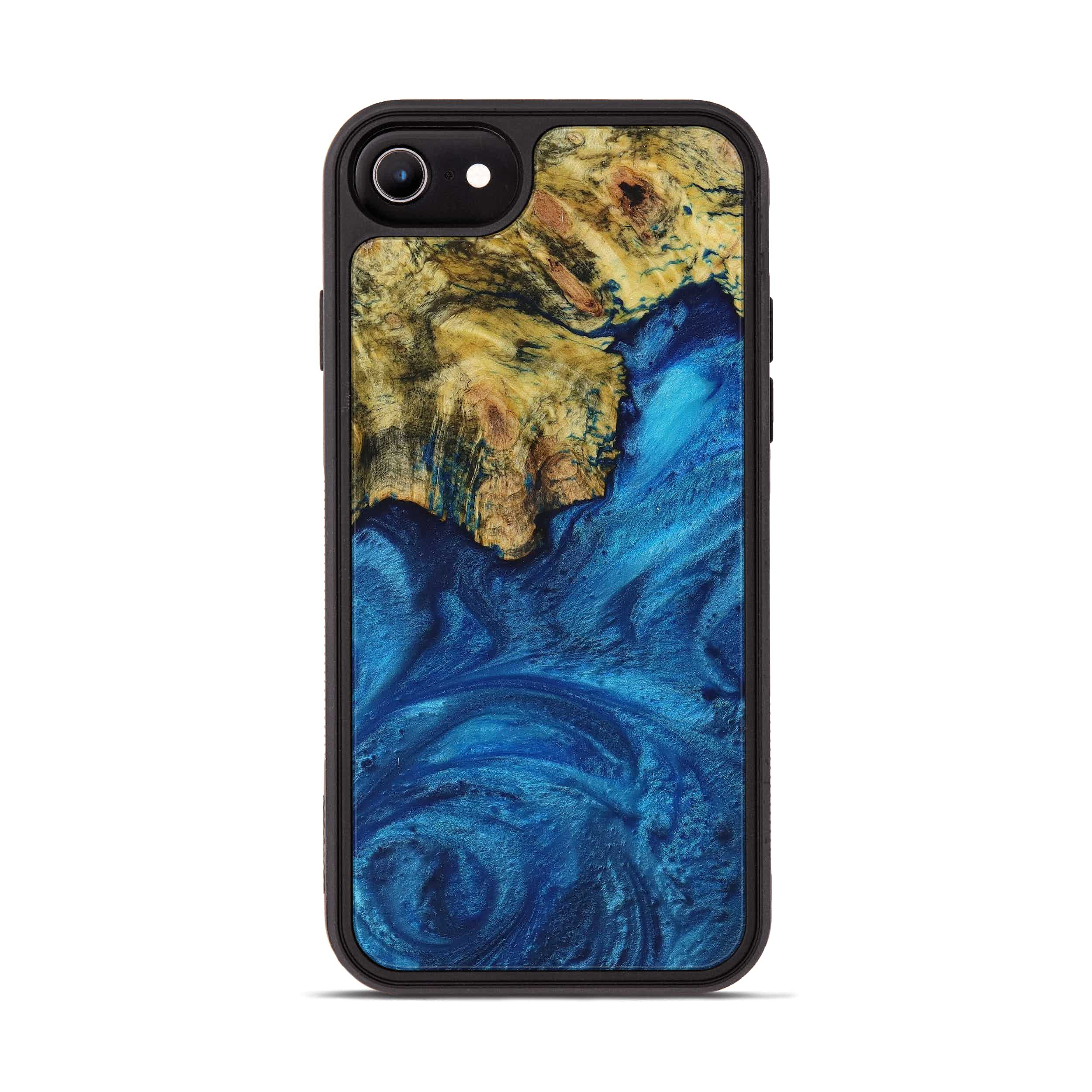 iPhone 6s Wood+Resin Phone Case - Meridel (Dark Blue, 395183)