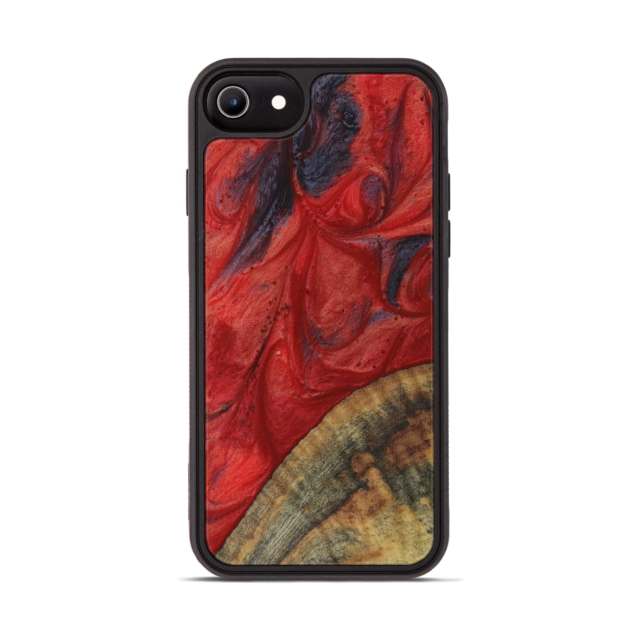 iPhone 6s Wood+Resin Phone Case - Naji (Dark Red, 395193)