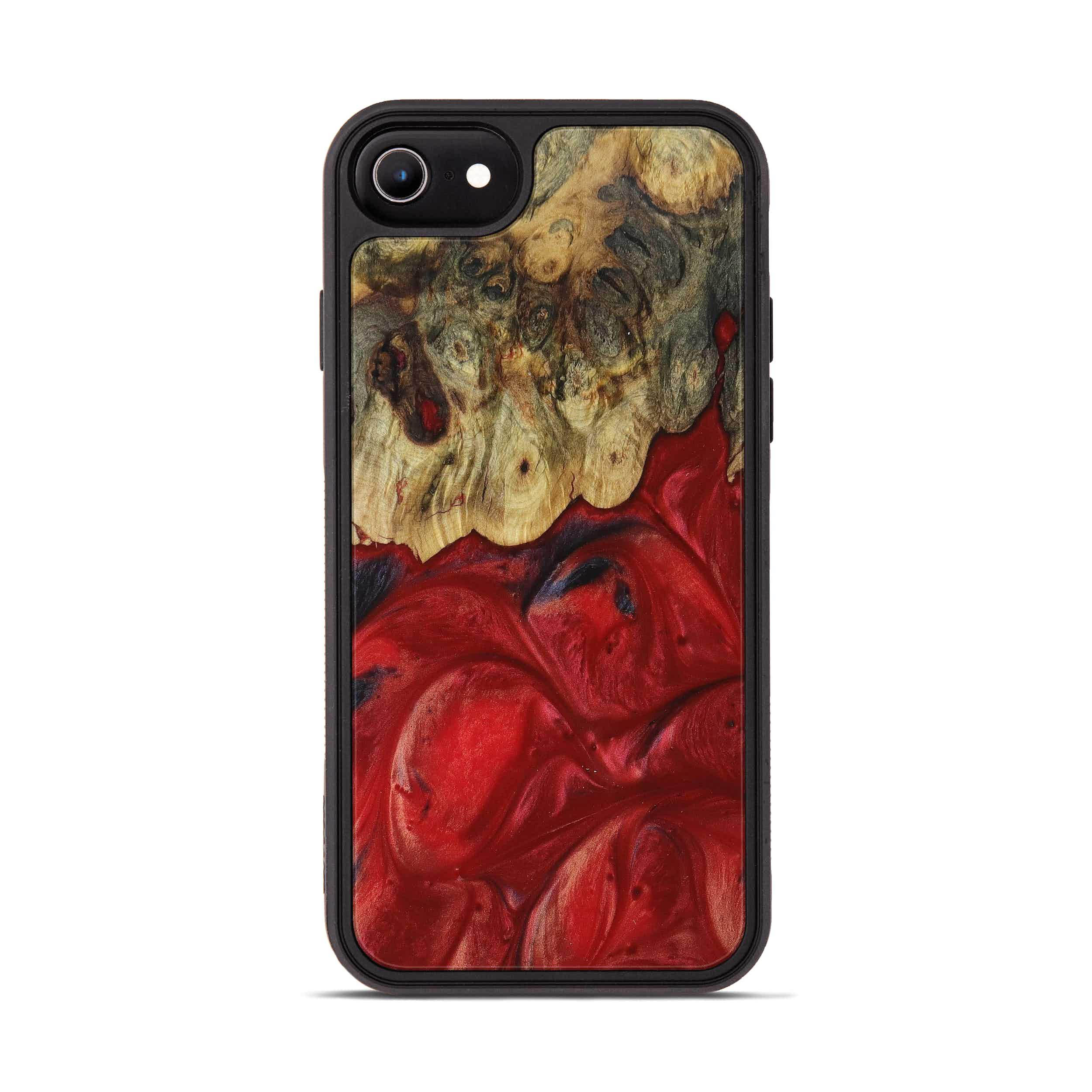 iPhone 6s Wood+Resin Phone Case - Chand (Dark Red, 395200)