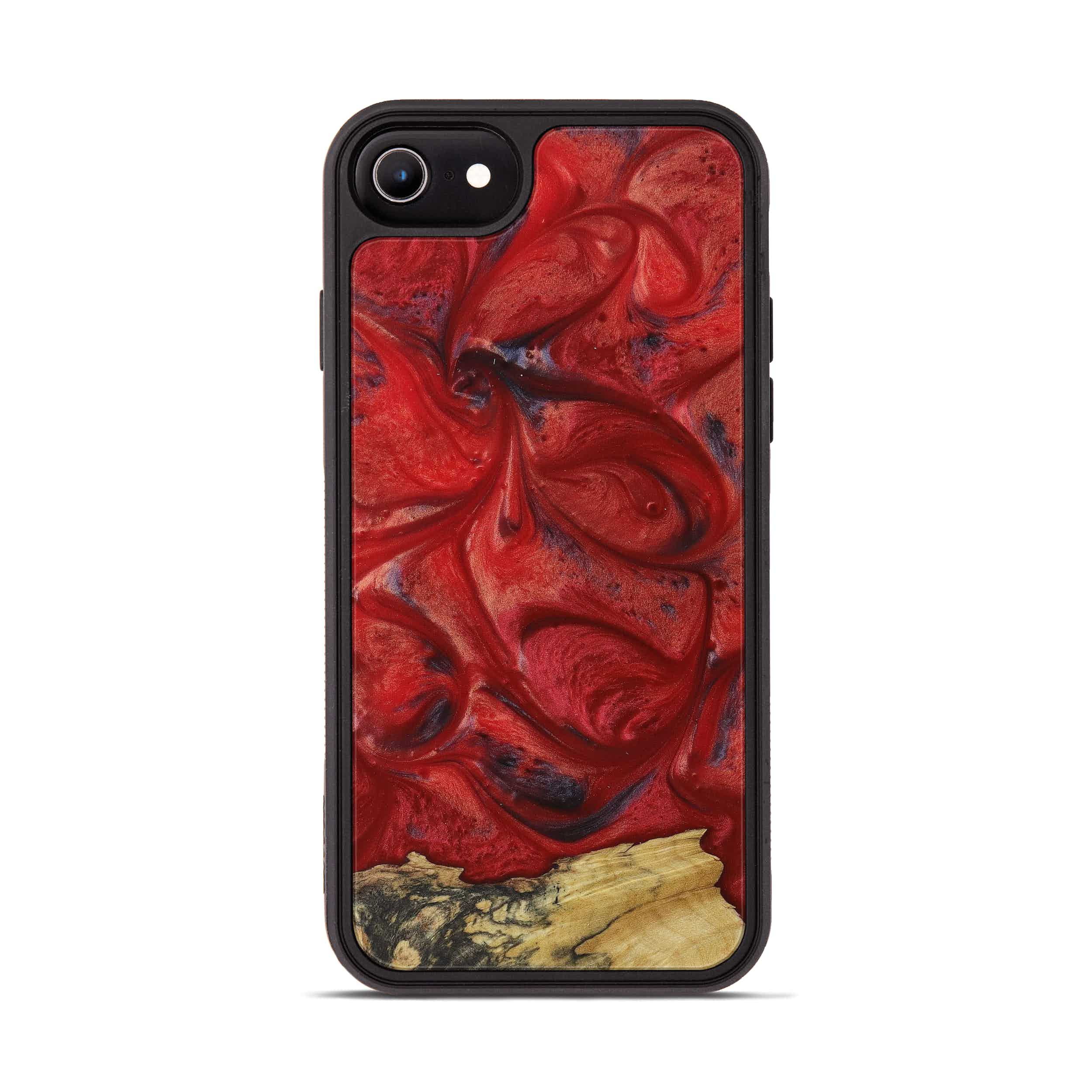 iPhone 6s Wood+Resin Phone Case - Tobe (Dark Red, 395204)