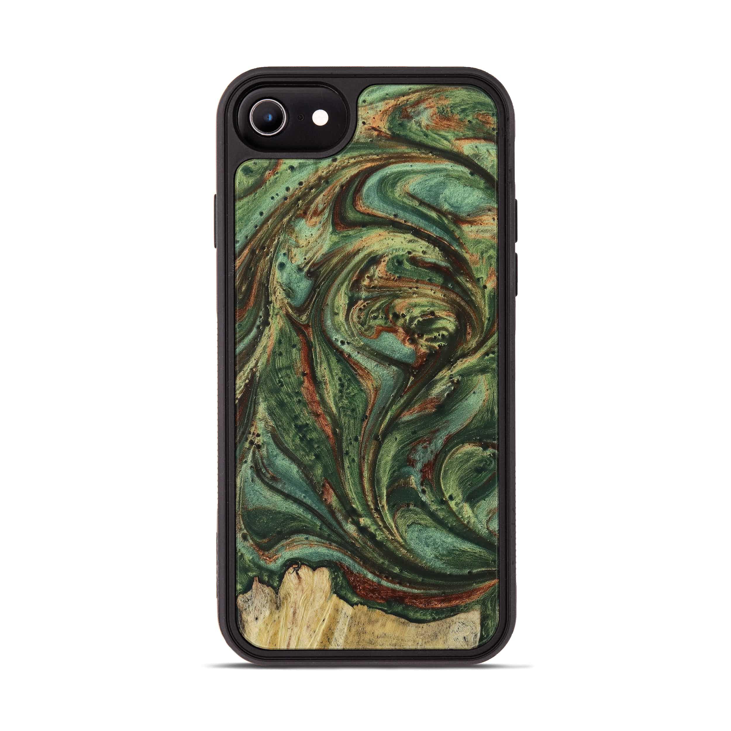 iPhone 6s Wood+Resin Phone Case - Bernadene (Dark Green, 395221)