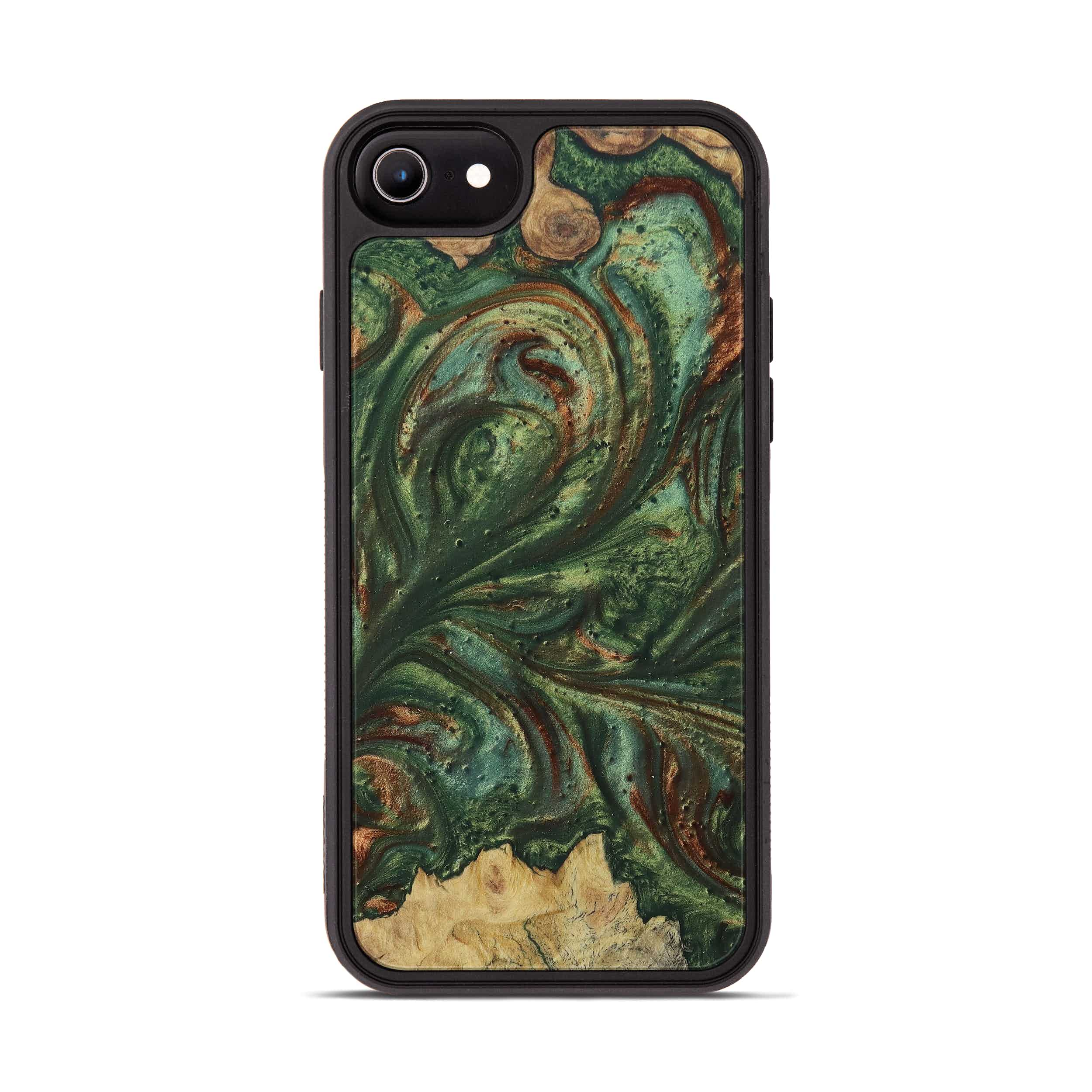 iPhone 6s Wood+Resin Phone Case - Melek (Dark Green, 395224)