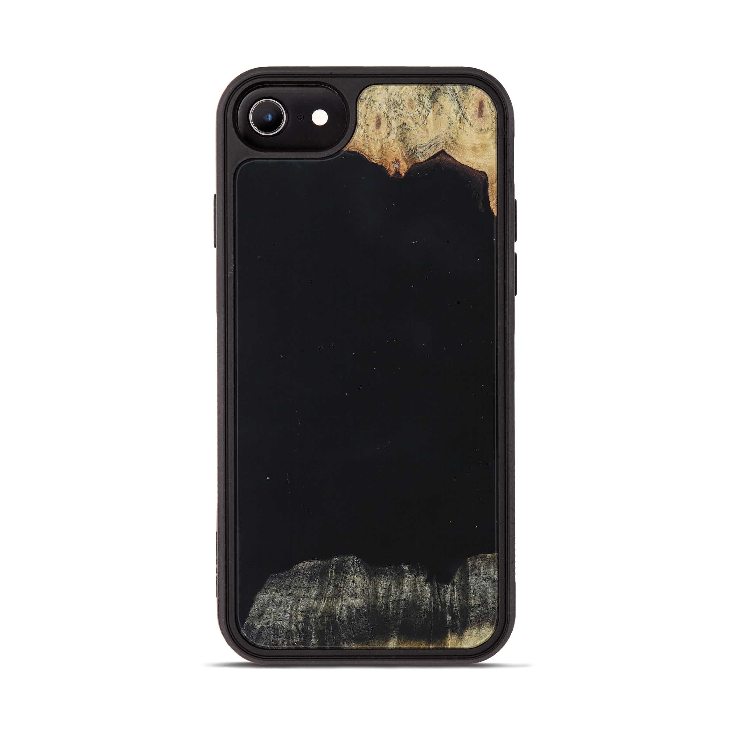 iPhone 6s Wood+Resin Phone Case - Jennine (Pure Black, 395891)
