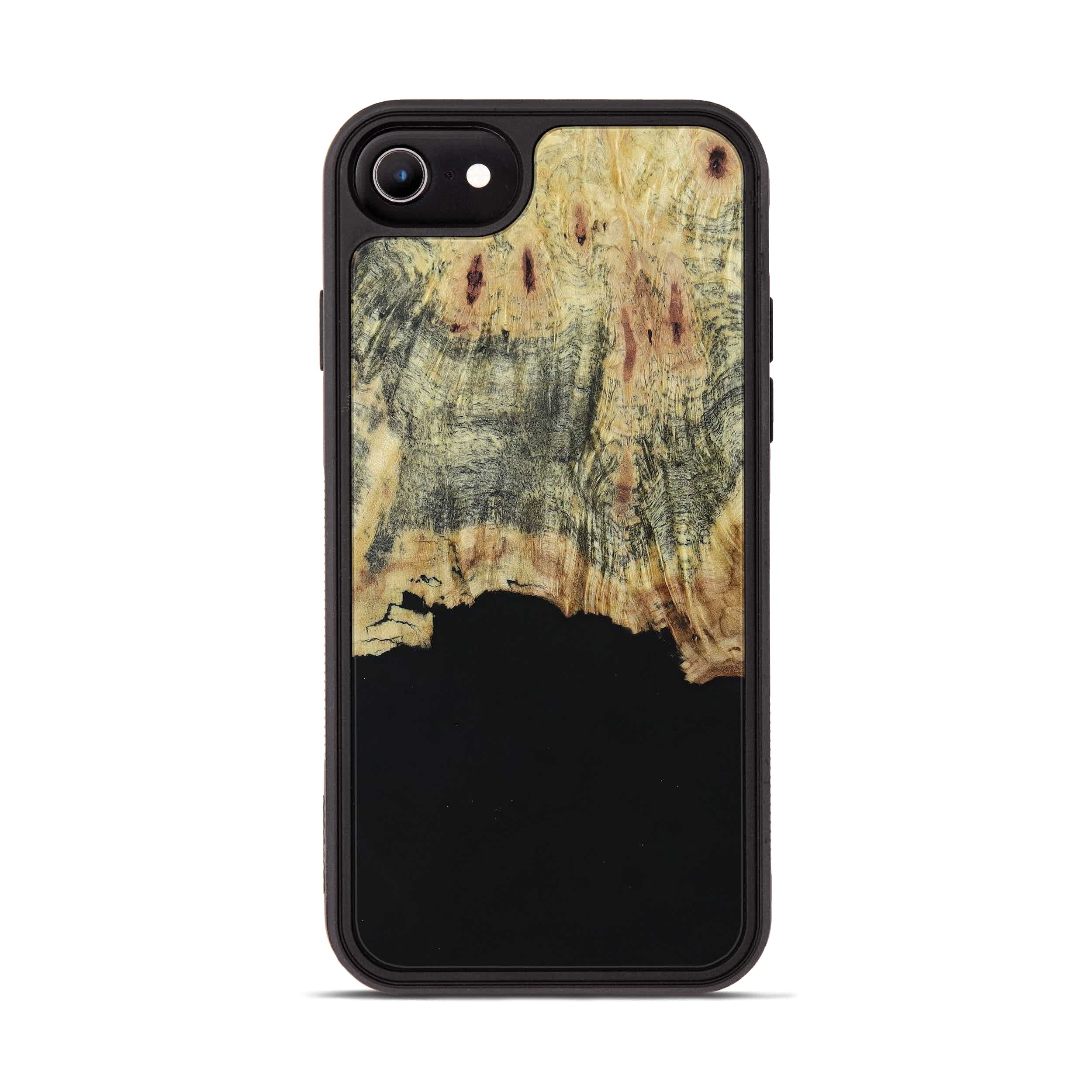 iPhone 6s Wood+Resin Phone Case - Corine (Pure Black, 395895)