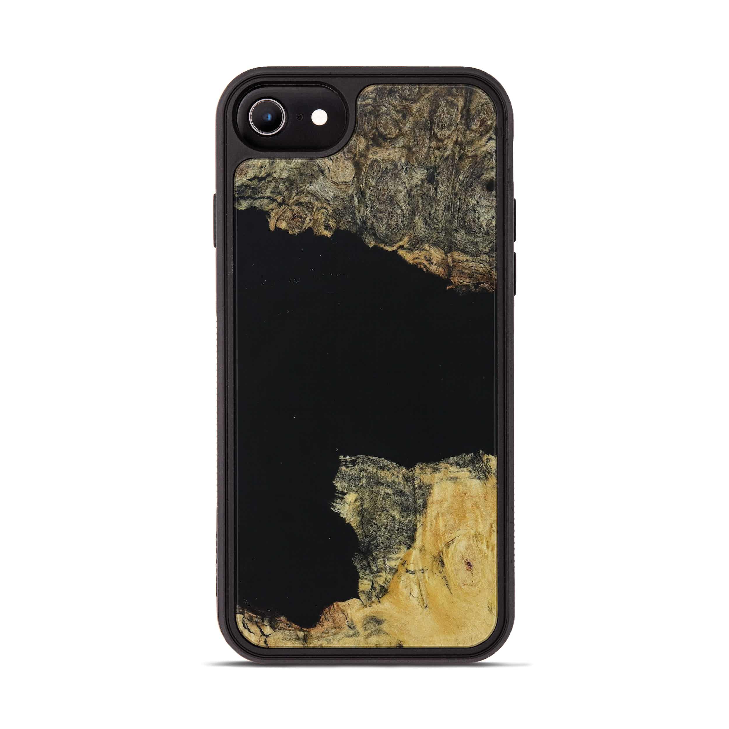 iPhone 6s Wood+Resin Phone Case - Dedie (Pure Black, 395898)