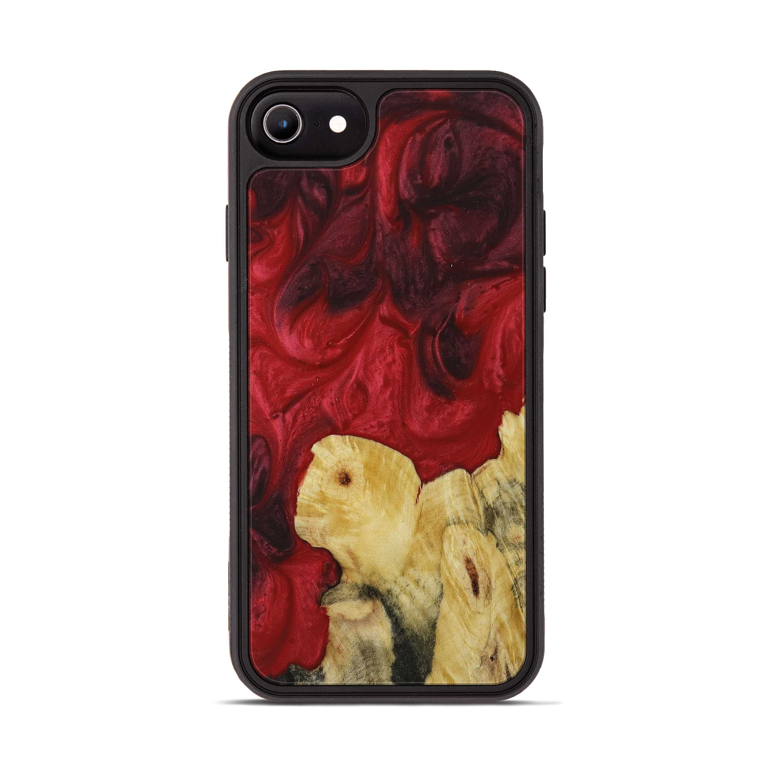 iPhone 6s Wood+Resin Phone Case - Dolly (Dark Red, 395930)