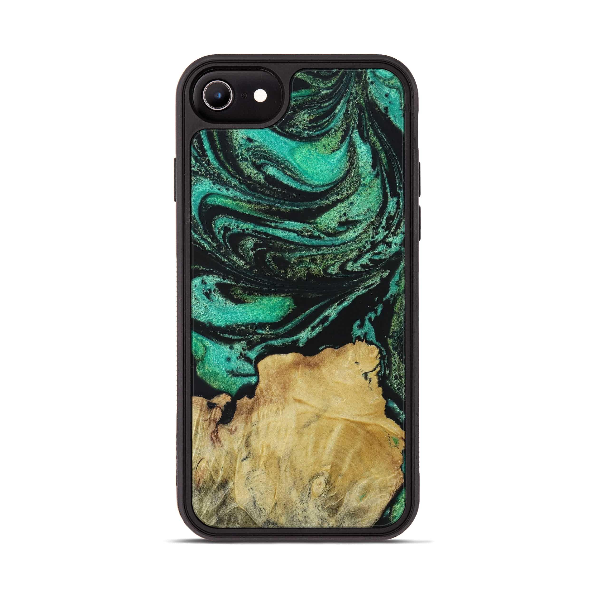 iPhone 6s Wood+Resin Phone Case - Miro (Dark Green, 395950)