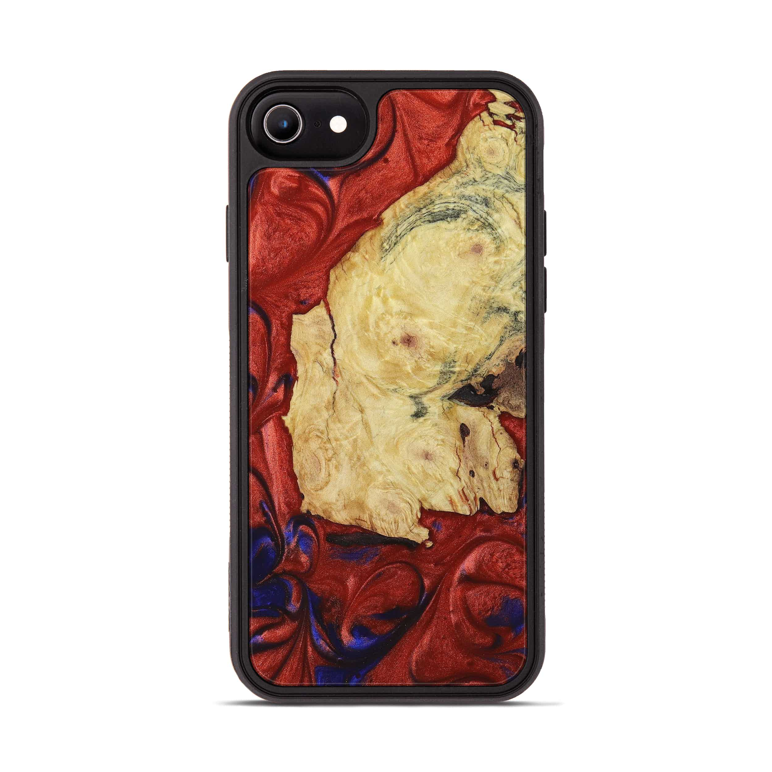 iPhone 6s Wood+Resin Phone Case - Shyam (Blue & Red, 395960)