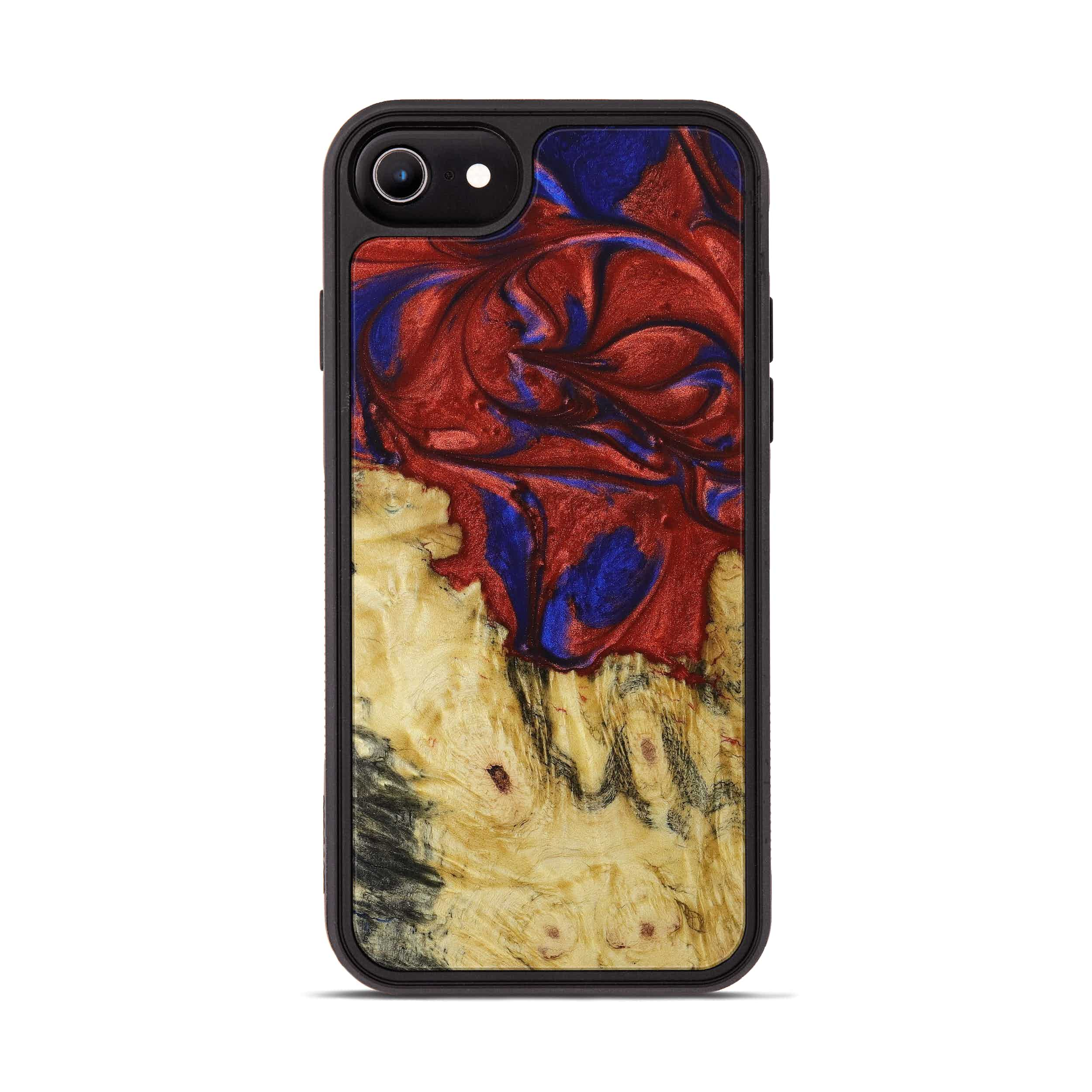 iPhone 6s Wood+Resin Phone Case - Dzung (Blue & Red, 395961)