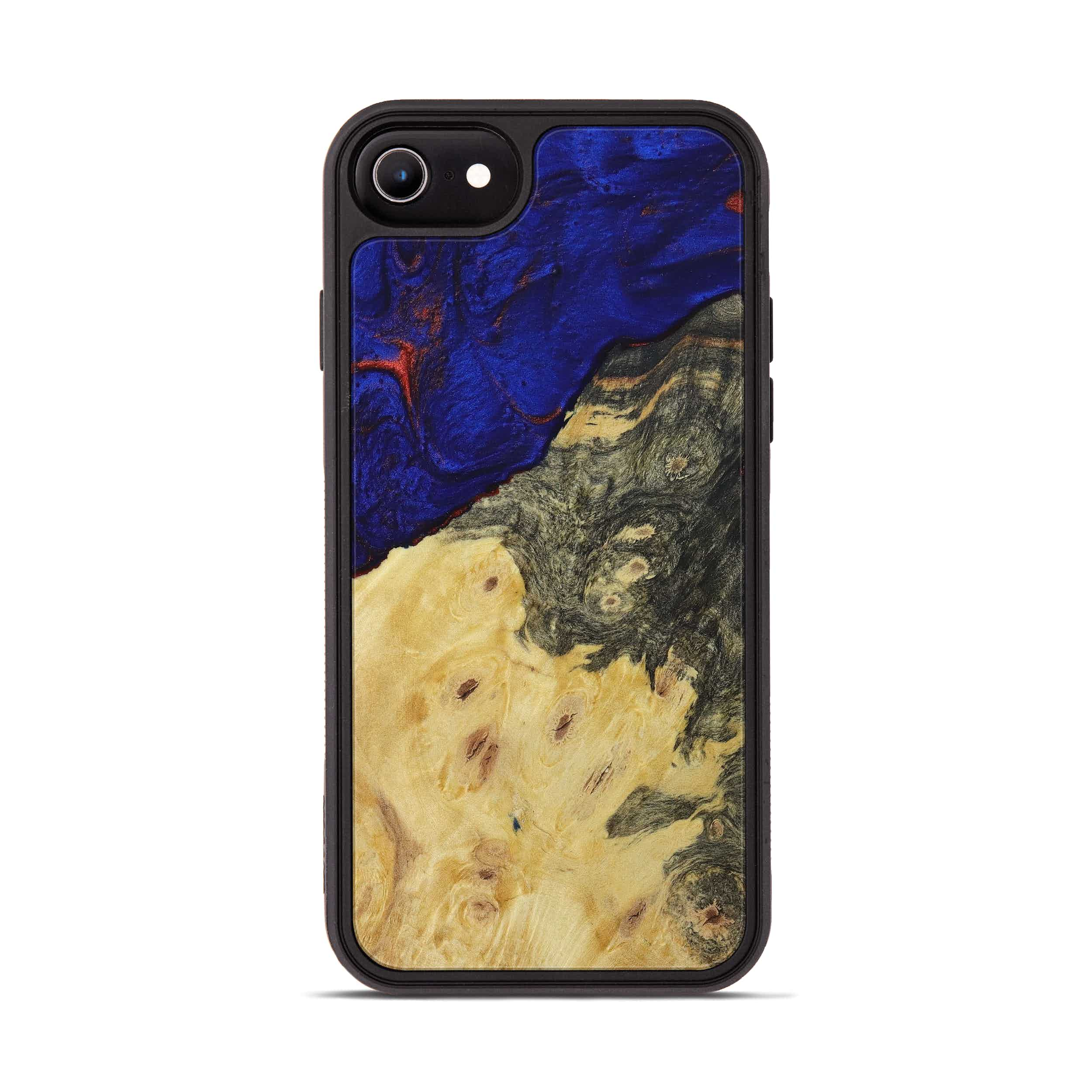 iPhone 6s Wood+Resin Phone Case - Garry (Blue & Red, 395963)