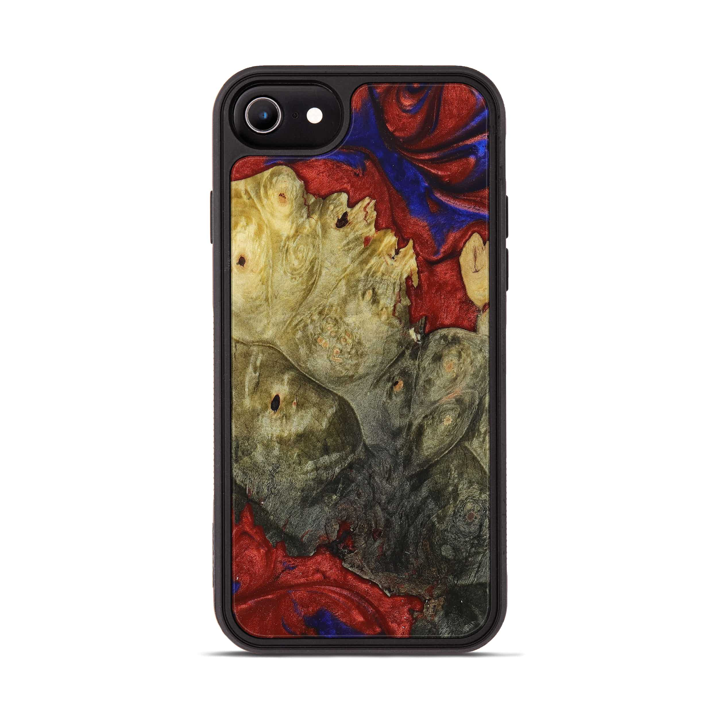 iPhone 6s Wood+Resin Phone Case - Seema (Blue & Red, 395965)