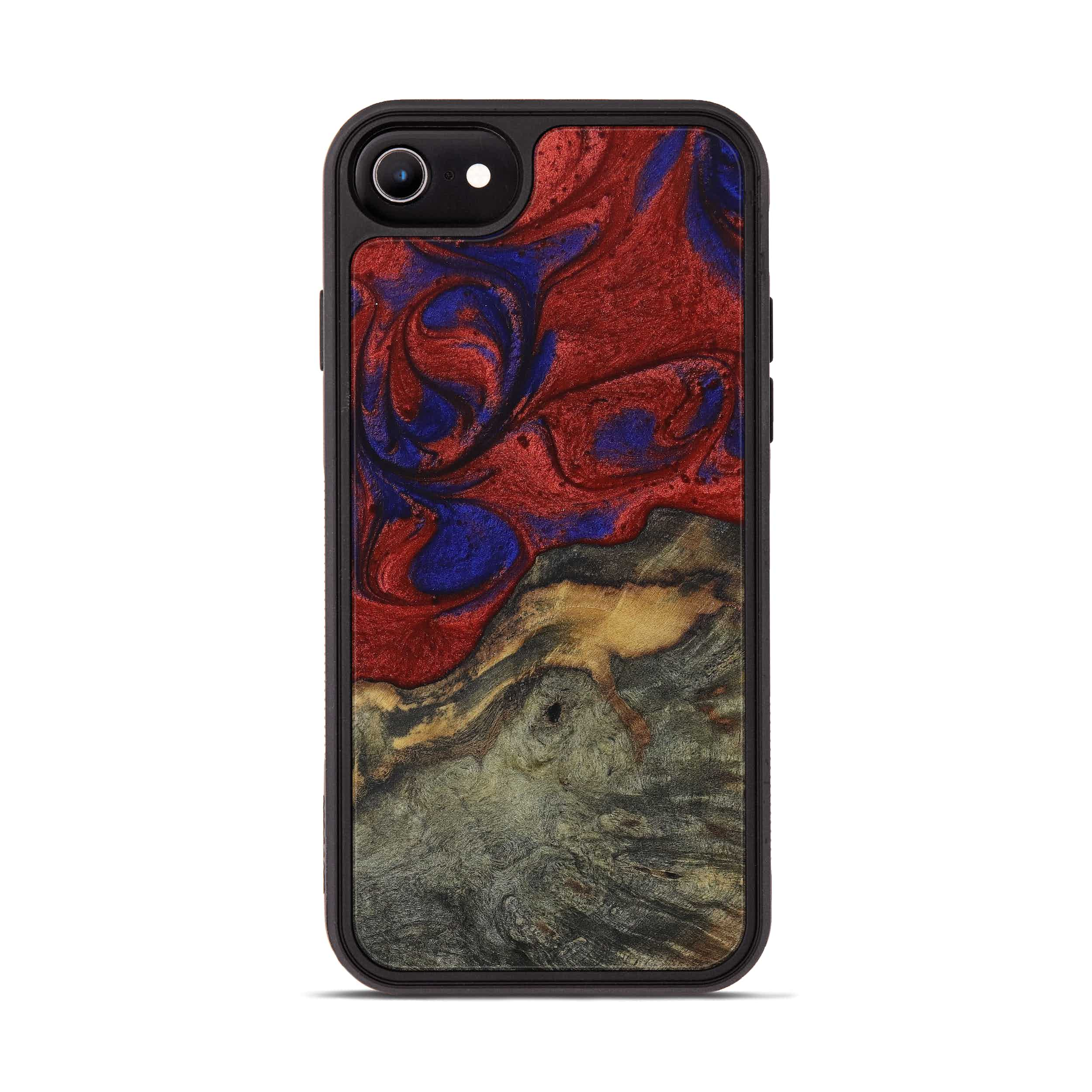 iPhone 6s Wood+Resin Phone Case - Marv (Blue & Red, 395973)