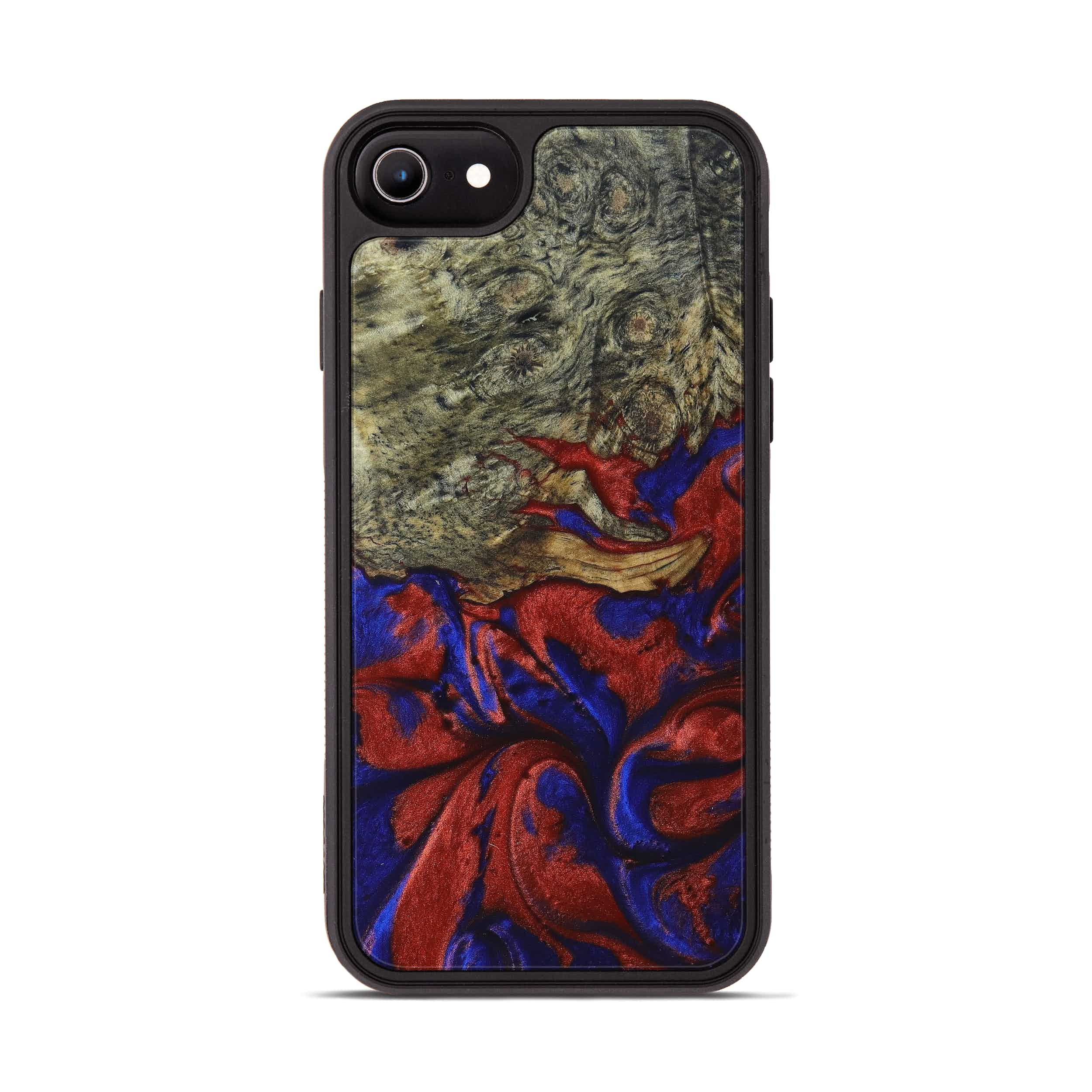iPhone 6s Wood+Resin Phone Case - Spence (Blue & Red, 395974)