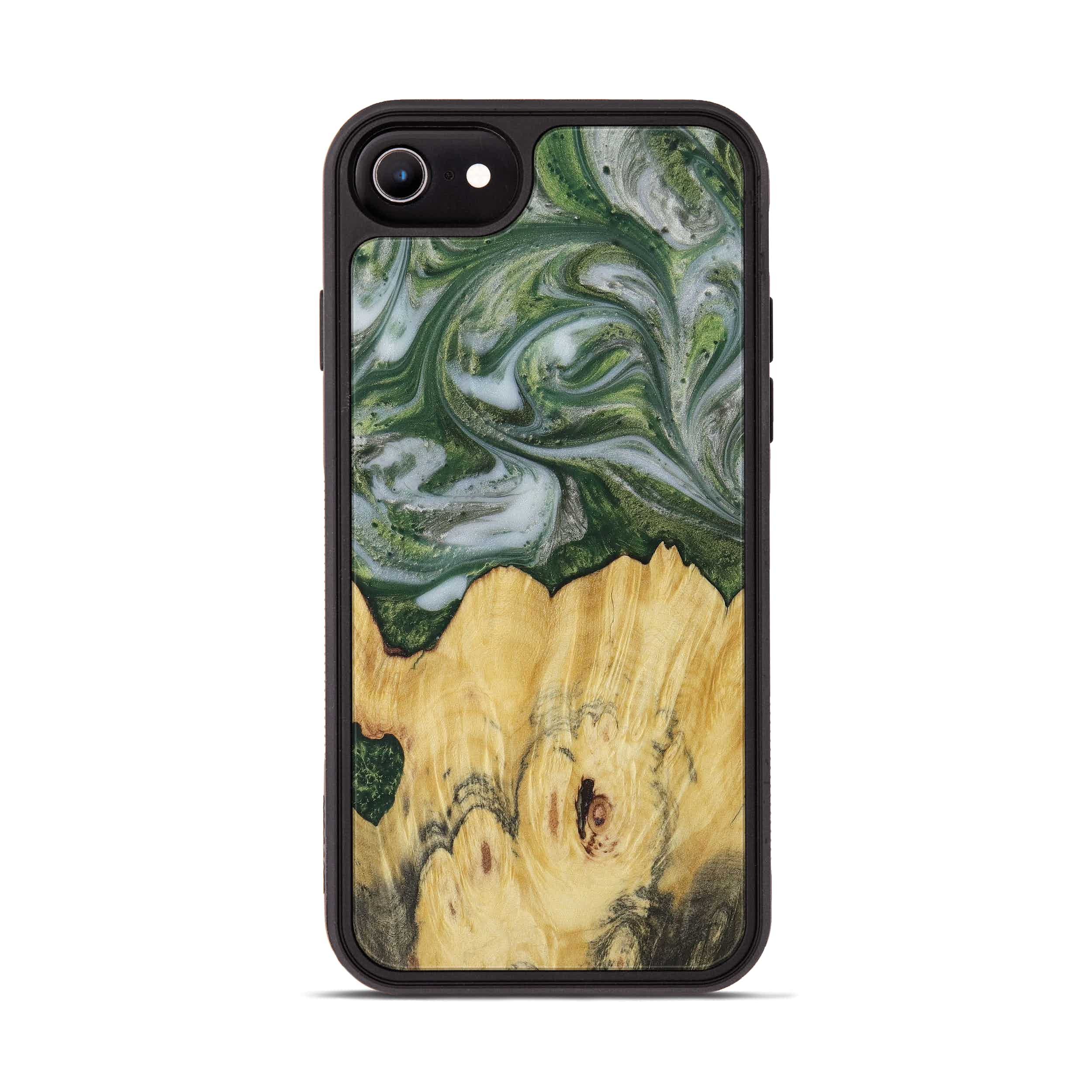 iPhone 6s Wood+Resin Phone Case - Christin (Dark Green, 396002)