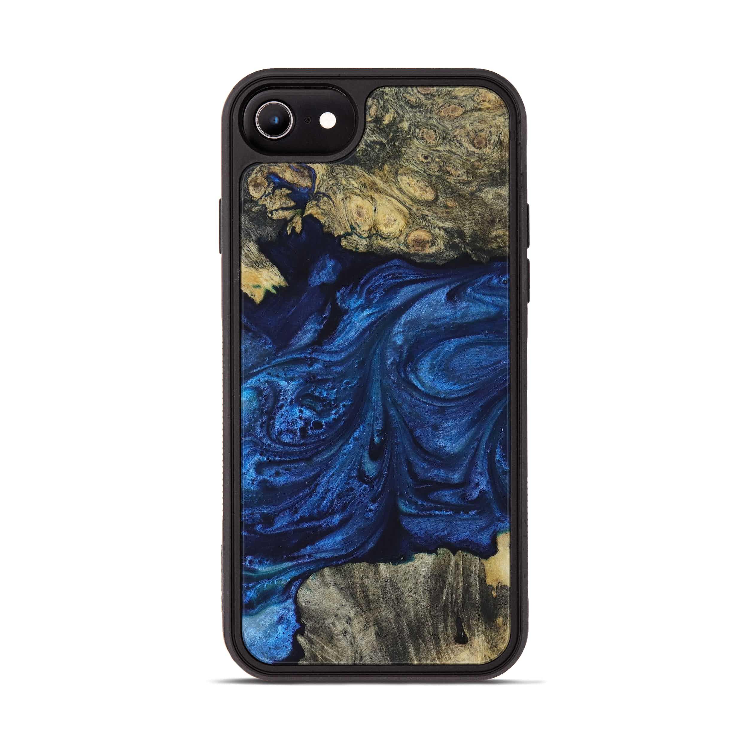 iPhone 6s Wood+Resin Phone Case - Kalpit (Dark Blue, 396090)